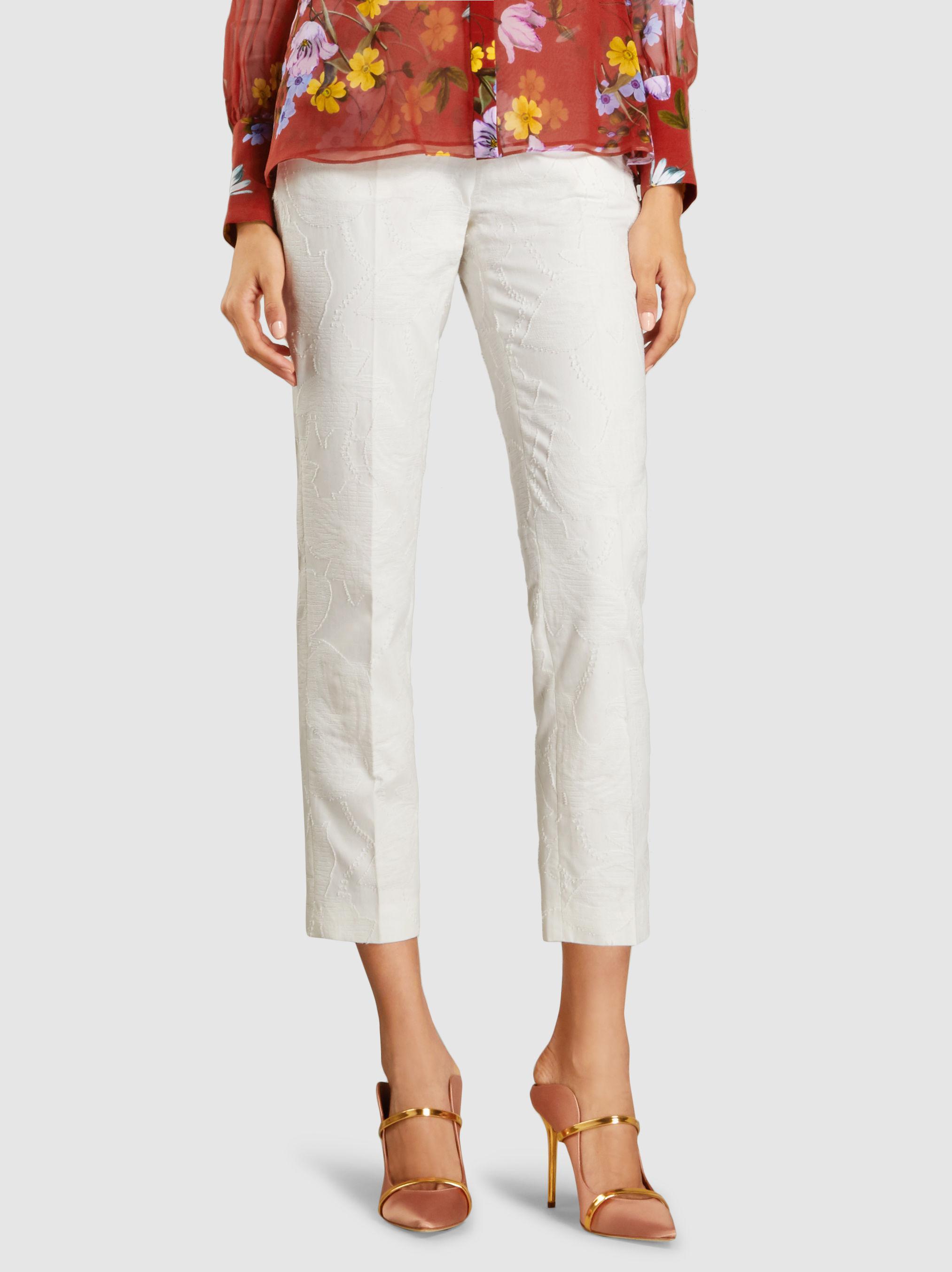 Cotton Fil Coup? Straight-Leg Trousers Delpozo MyT2gVy