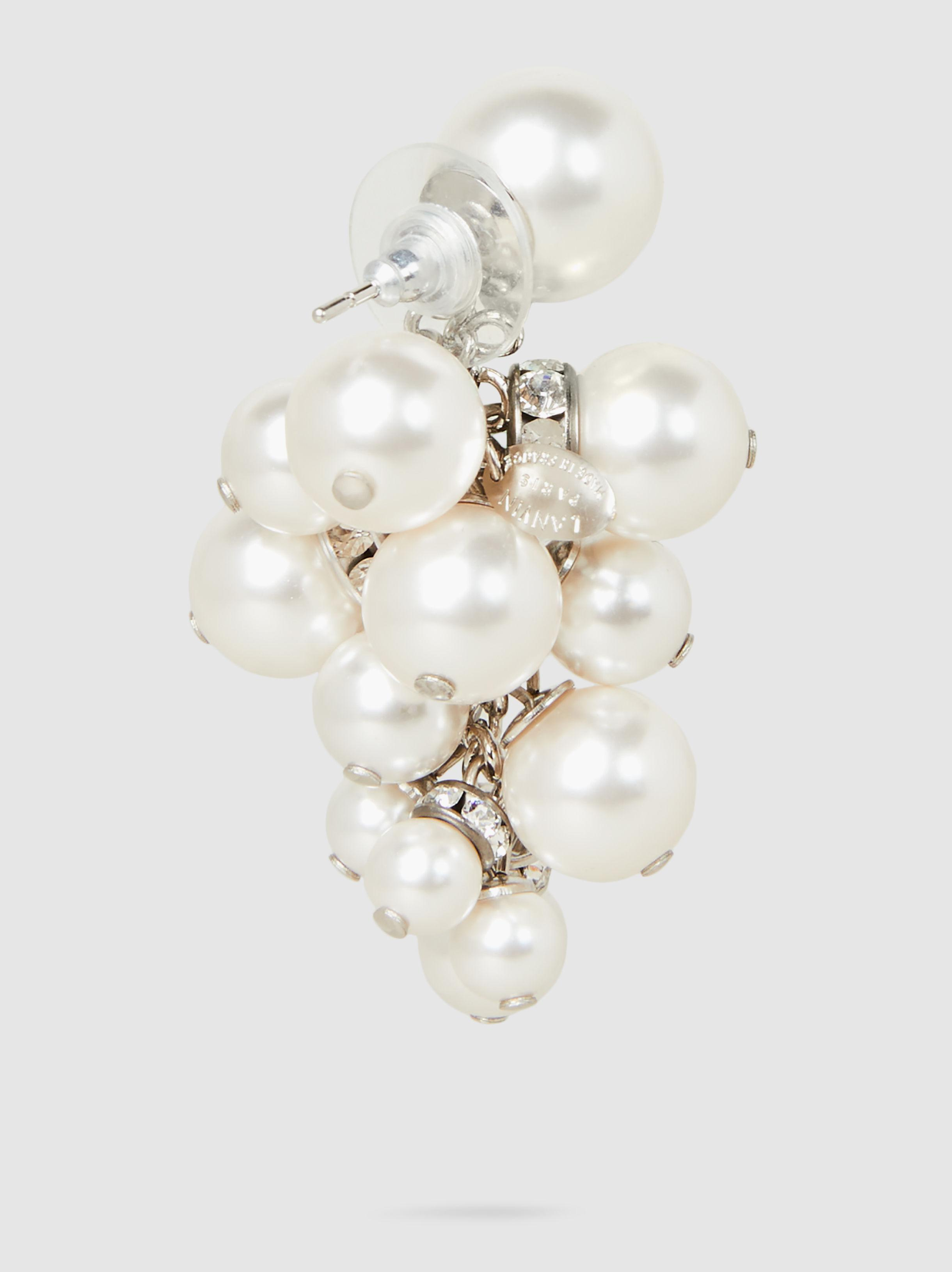 Lanvin Crystal-Embellished Pearl Cluster Earrings O4T0TfOYzS