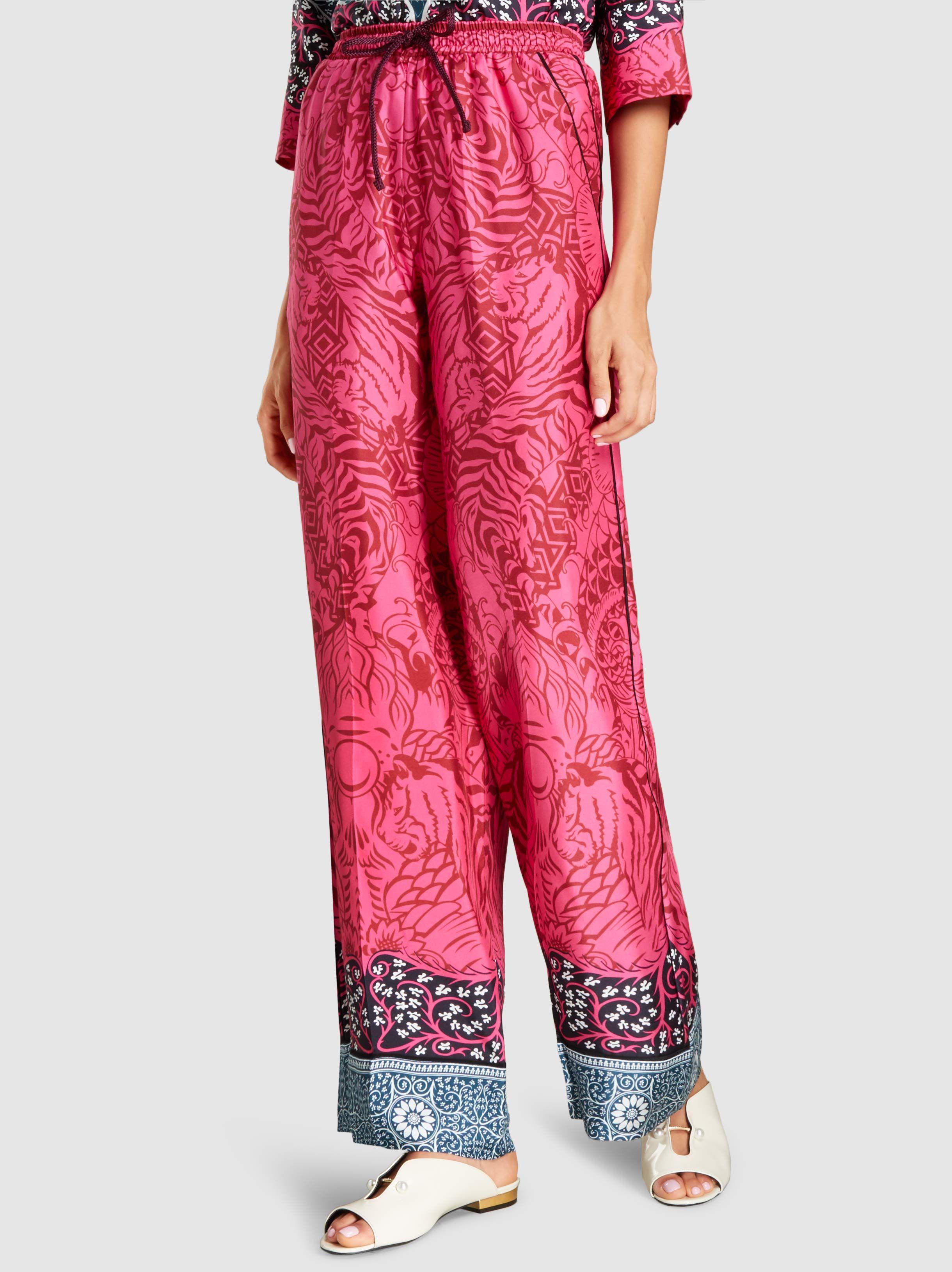 Tarots Soie Twill Pantalons Jambes Larges Mary Katrantzou 5qm6thJw