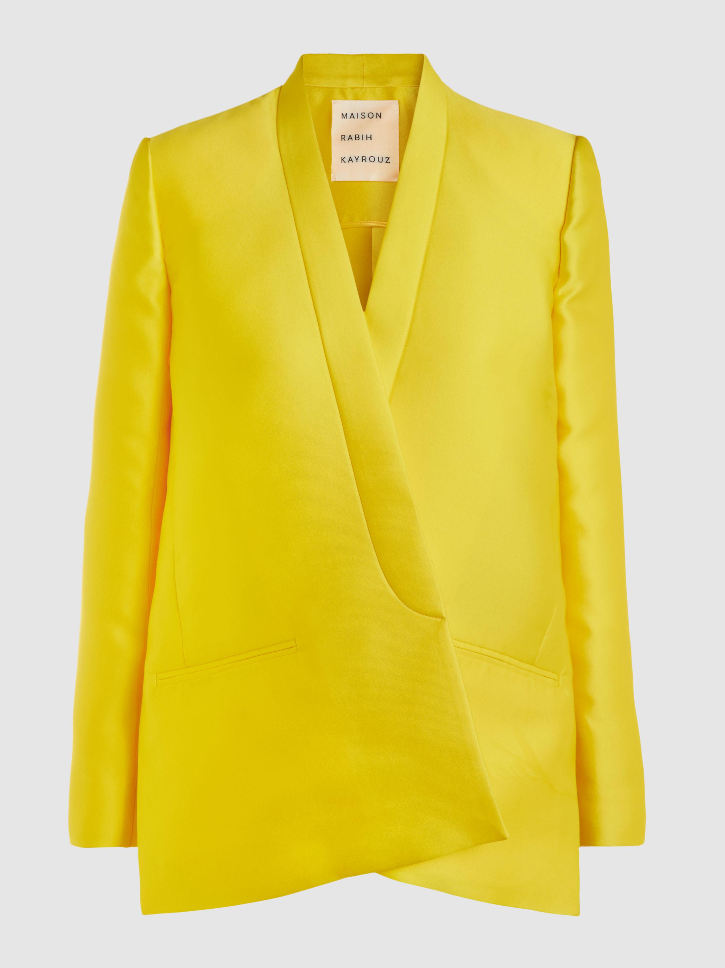 Cost Outlet Pick A Best Duchesse-Satin Draped Jacket Maison Rabih Kayrouz Y2NCpqajKy