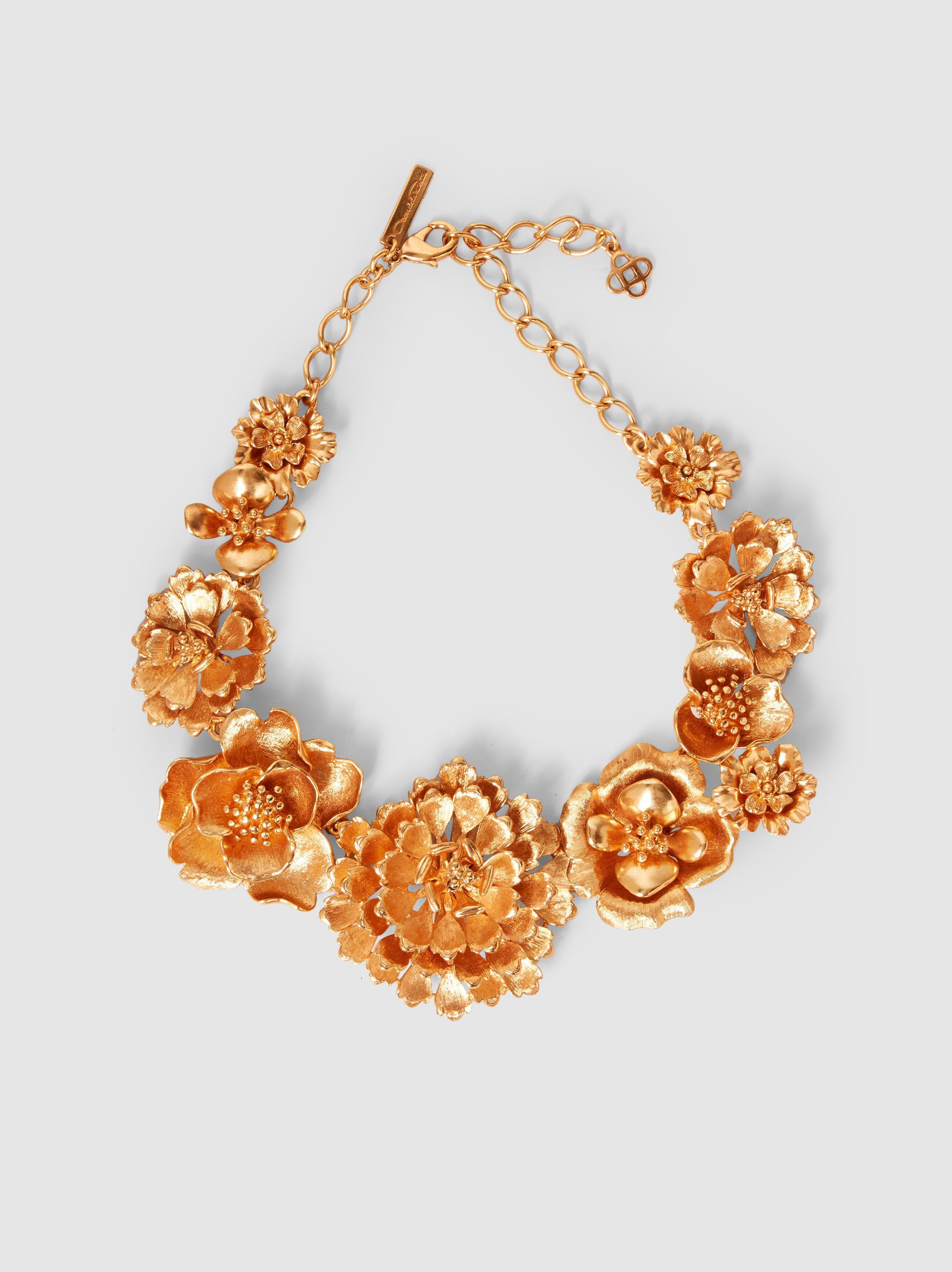 Oscar De La Renta Woman Gold-tone, Bead And Satin Necklace Gold Size Oscar De La Renta