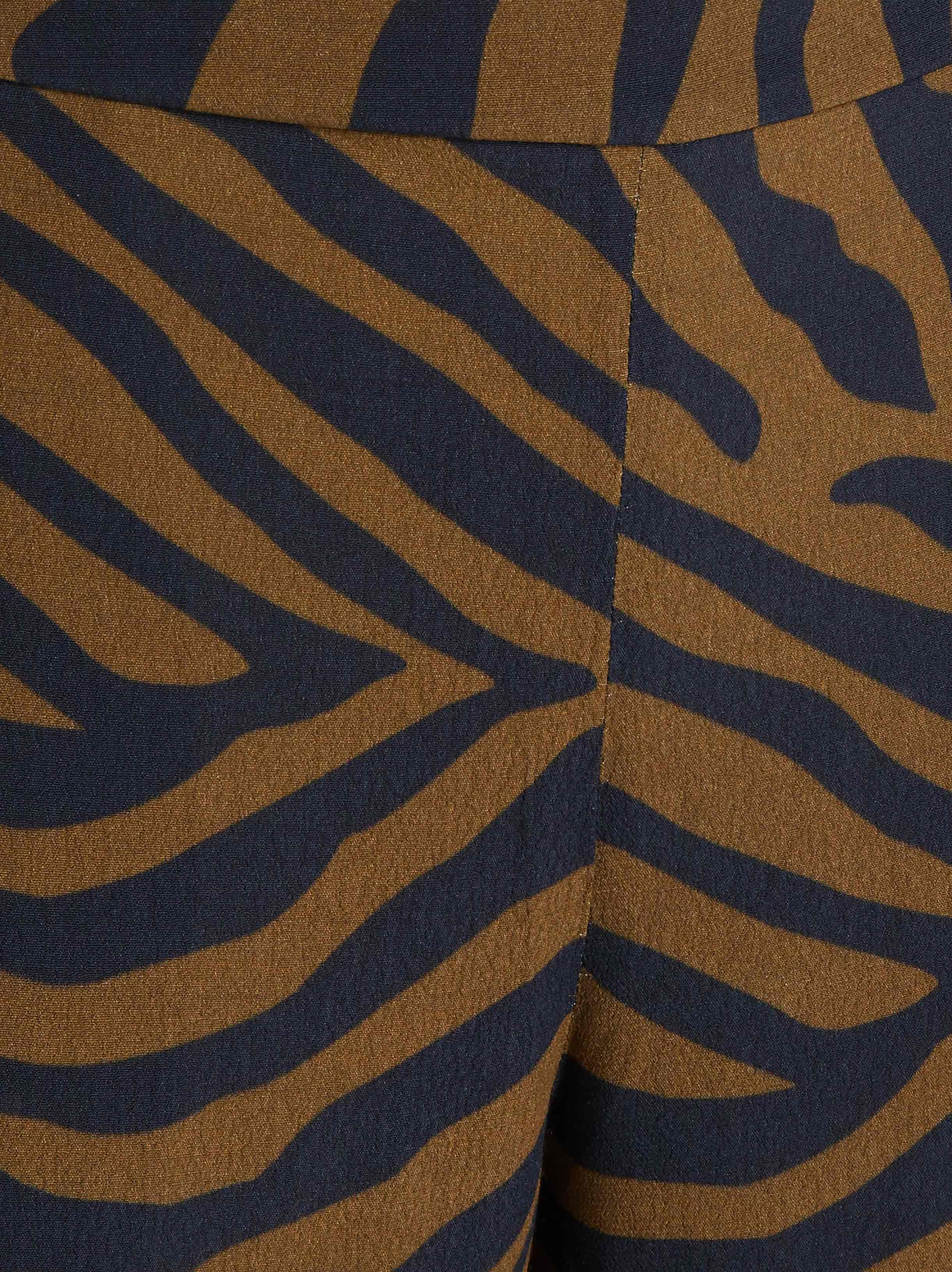 7a7e5f558034  LAYEUR - Multicolor Evelyn Wide Leg Zebra Print Trousers - Lyst. View  fullscreen