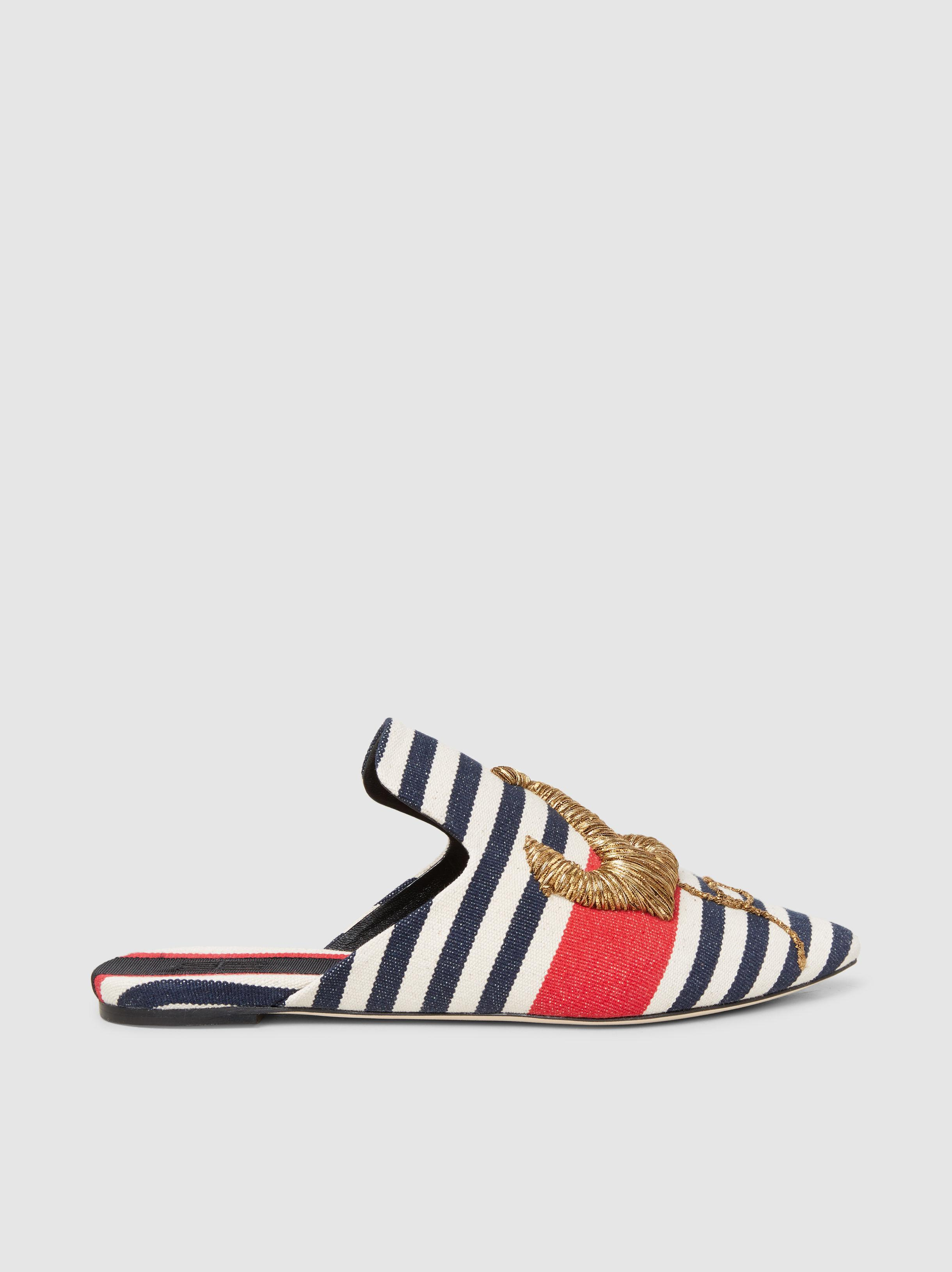 Sanayi 313 Talitha Striped Slipper 6yzPcCNhbN