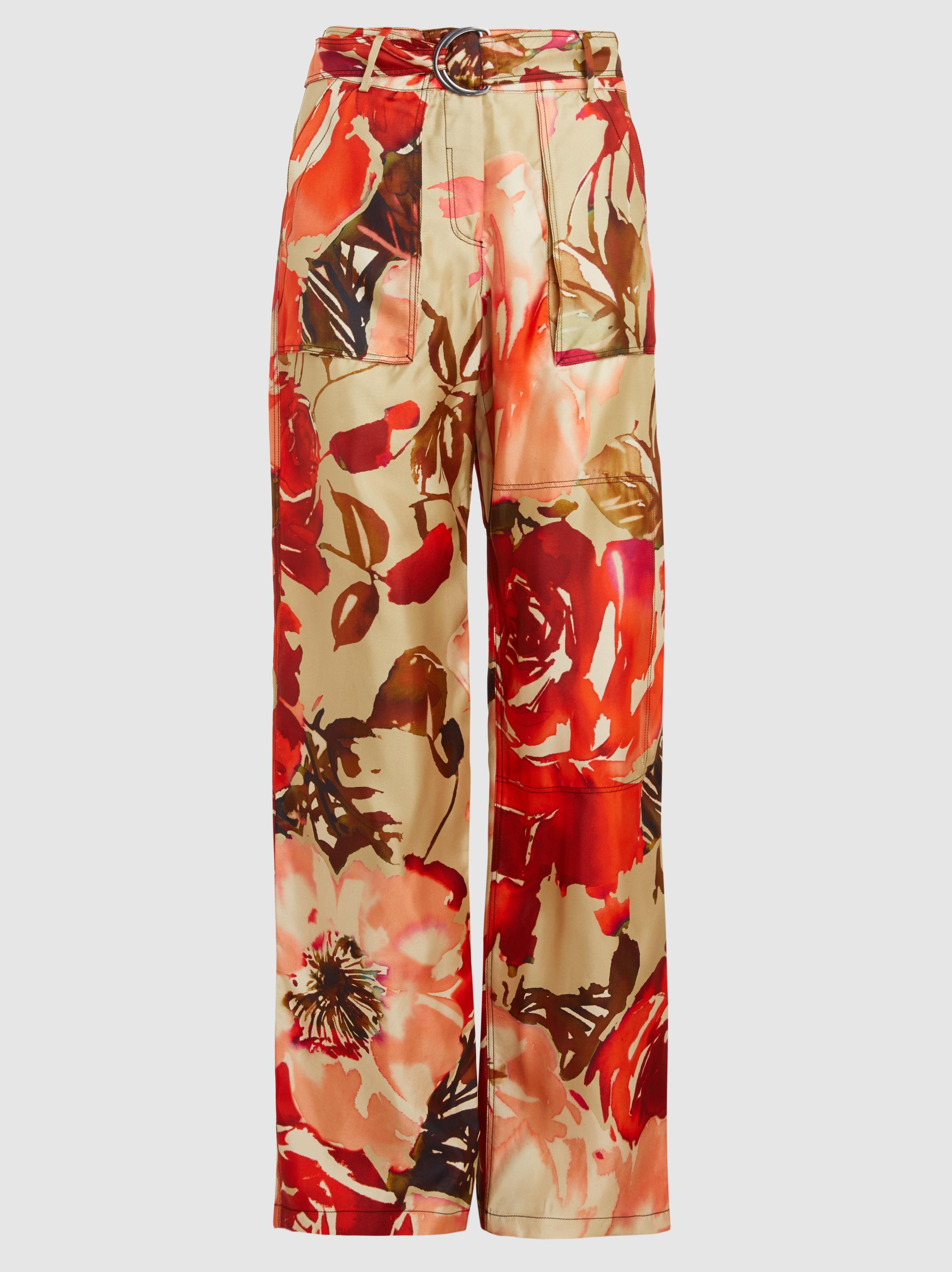 Silk Rose Print Trousers By. Soie Rose Pantalon Imprimé Par. Bonnie Young Bonnie Jeunes eitutKQ