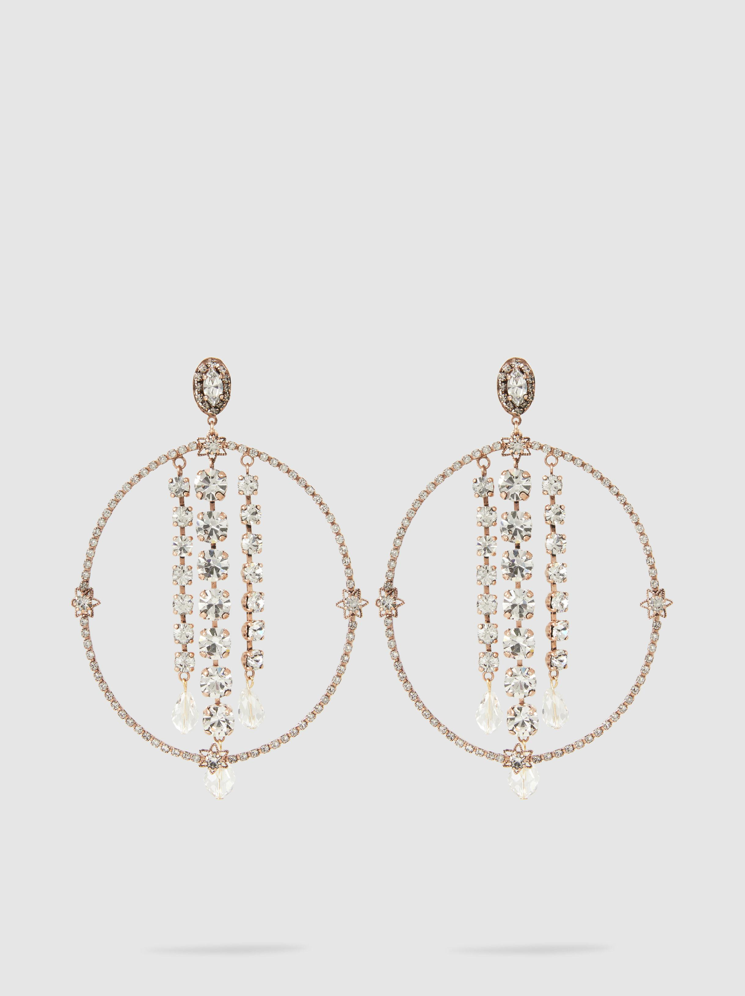Bowl Embellished Rose Gold-Plated Earrings Erickson Beamon TQQBeCb