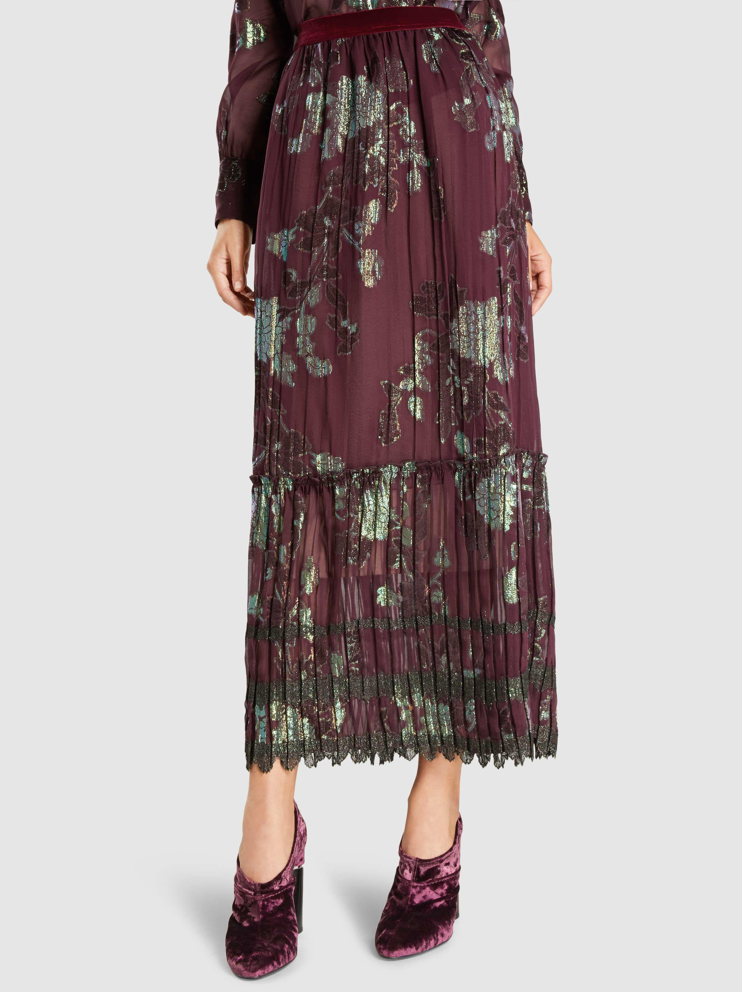 Iridescent Pleated Fil Coup Release Dates For Sale Free Shipping From China 2018 New Cheap Price AtcVn