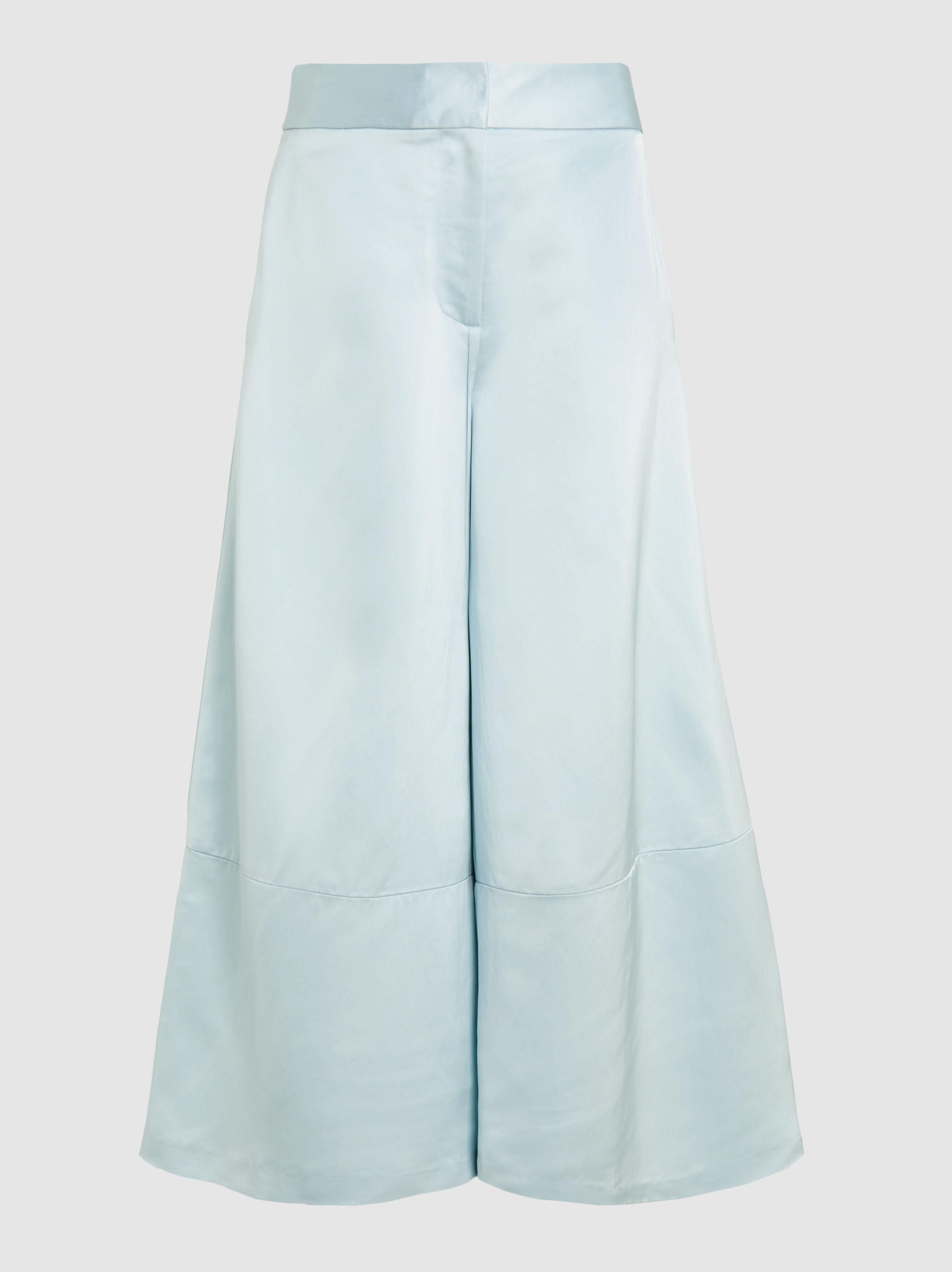 Silk-Blend Wide-Leg Culottes Marina Moscone Where To Buy Cheap Real Discount Perfect Shipping Discount Sale 8QkzNRMK1