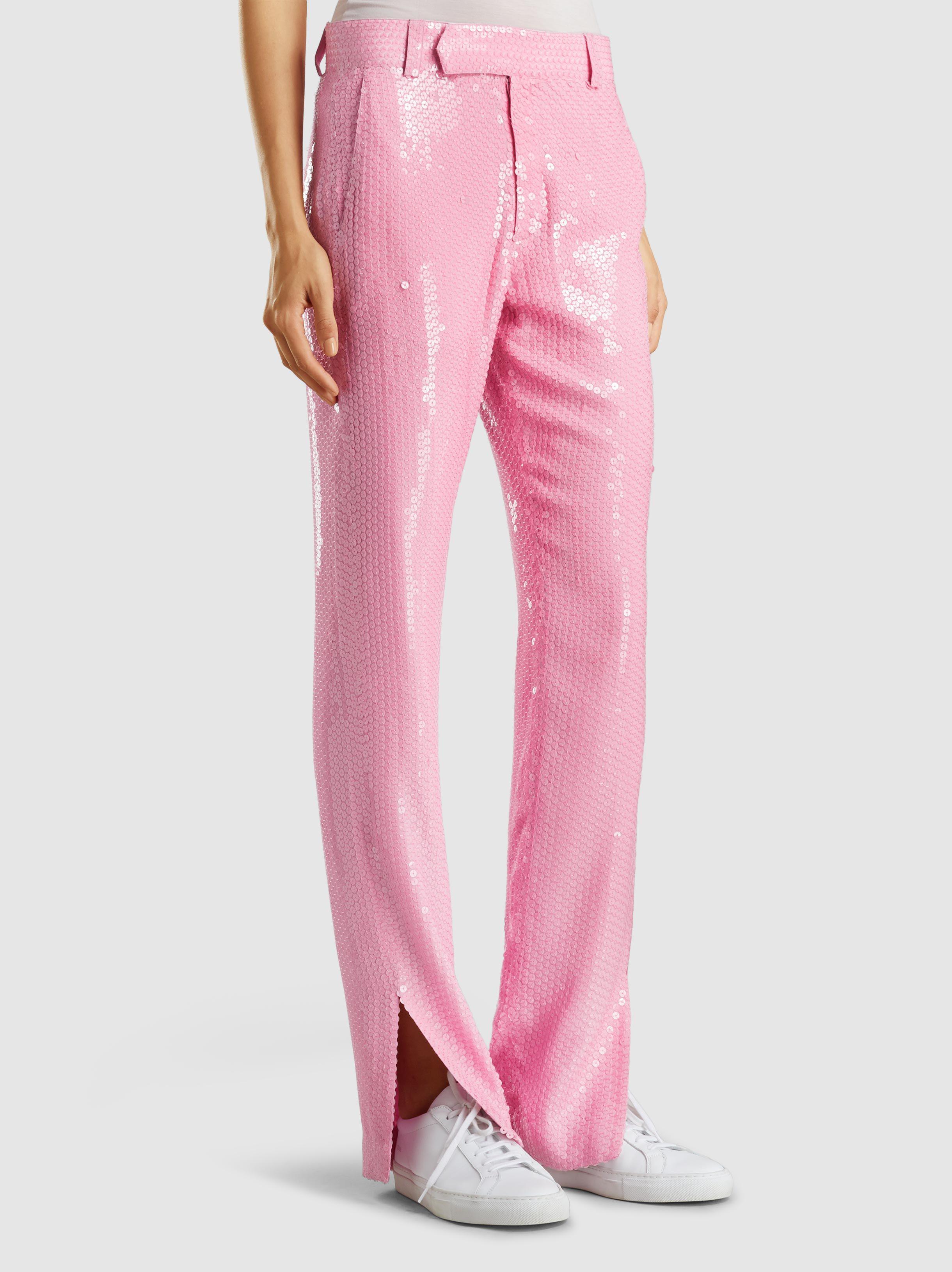 Sequinned Slim Leg Trousers Msgm 7bIc4b