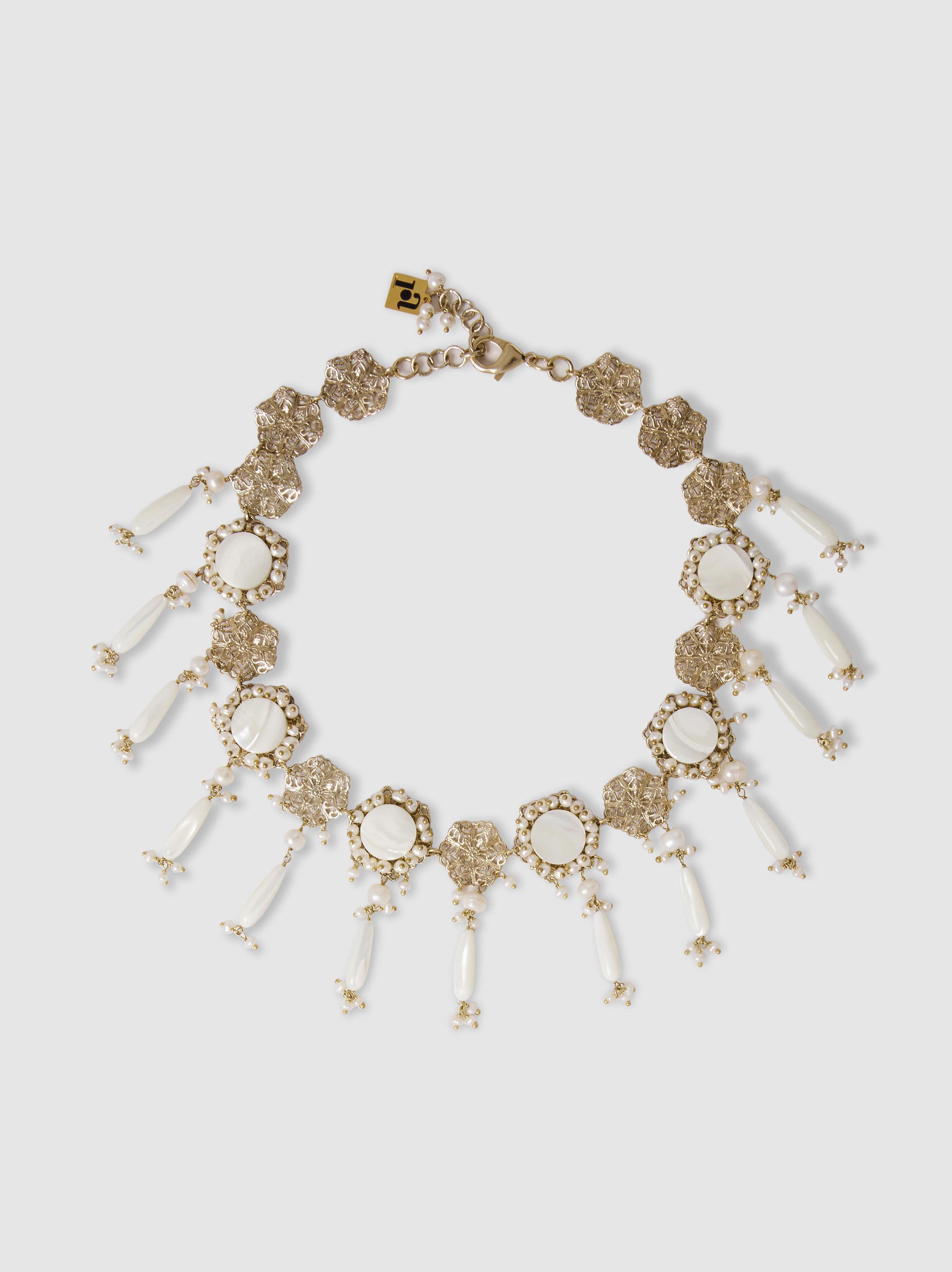 Rosantica Rosantica Woman Nebbia Gold-plated Freshwater Pearl Tassel Necklace Gold Size jl38HgbWWV