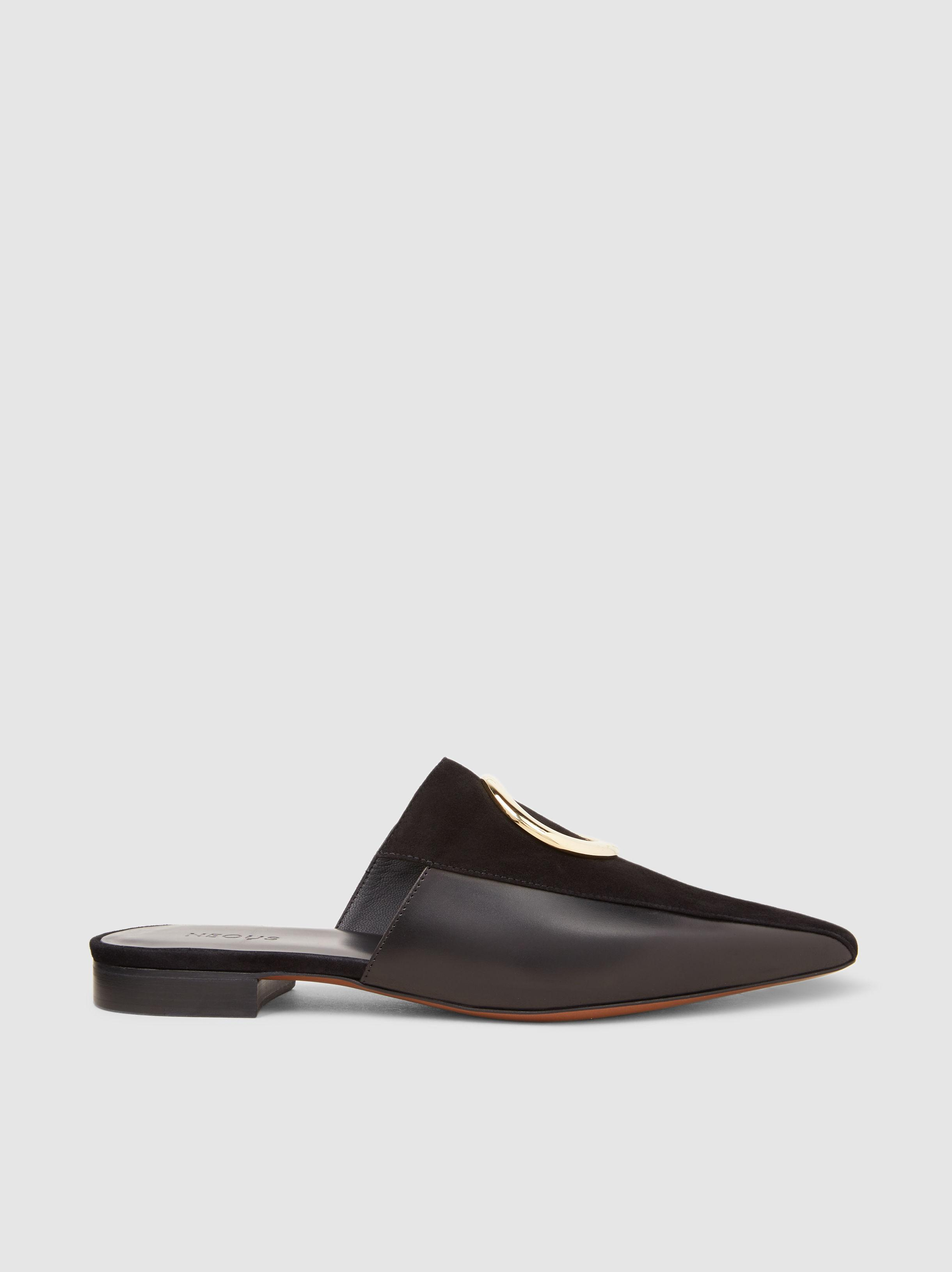 Neous Phaius Embellished Leather and Suede Slippers 2018 Cheap Online rNJkqM2P