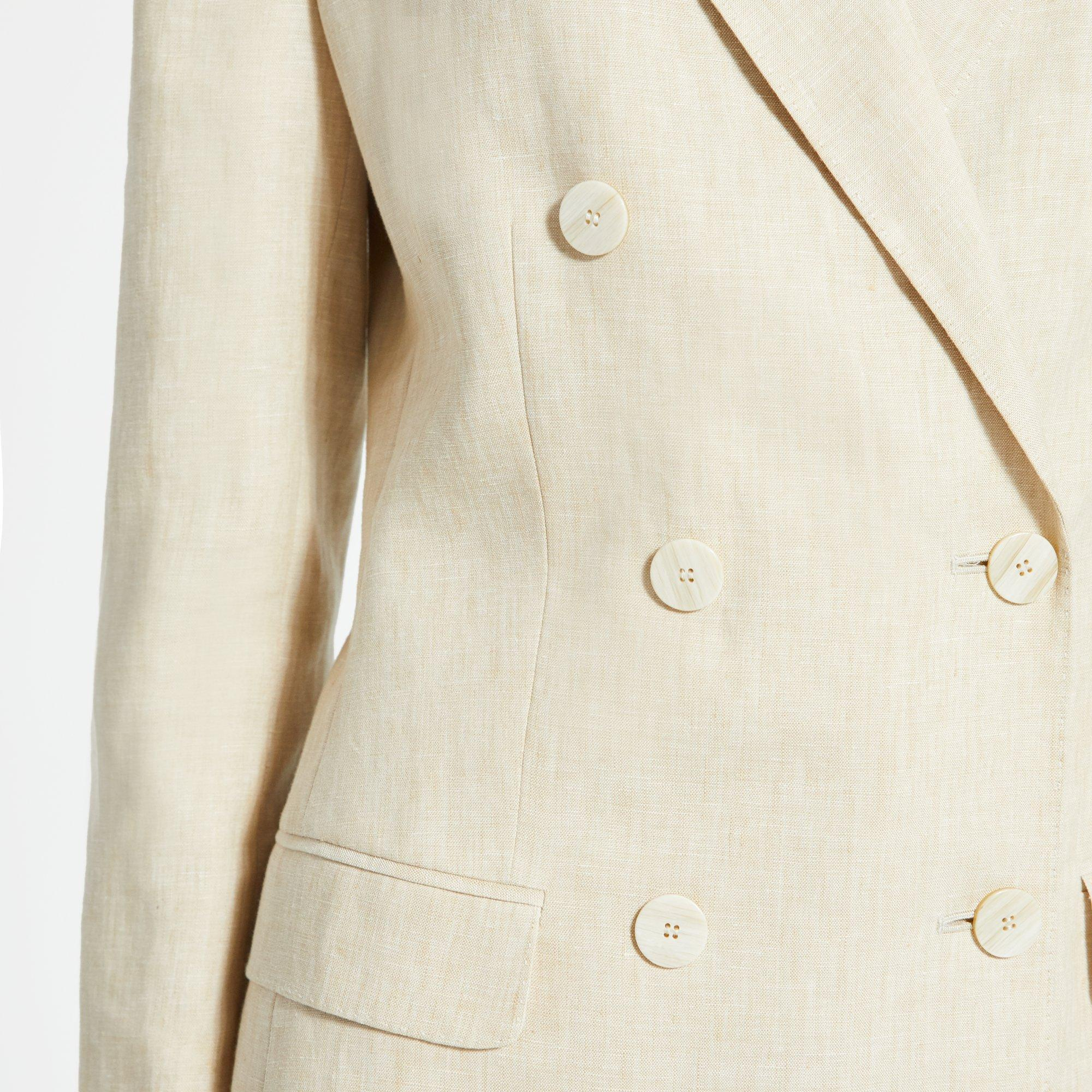 9310577a791 ... Pure Linen Double-breasted Tailored Jacket - Lyst. View fullscreen
