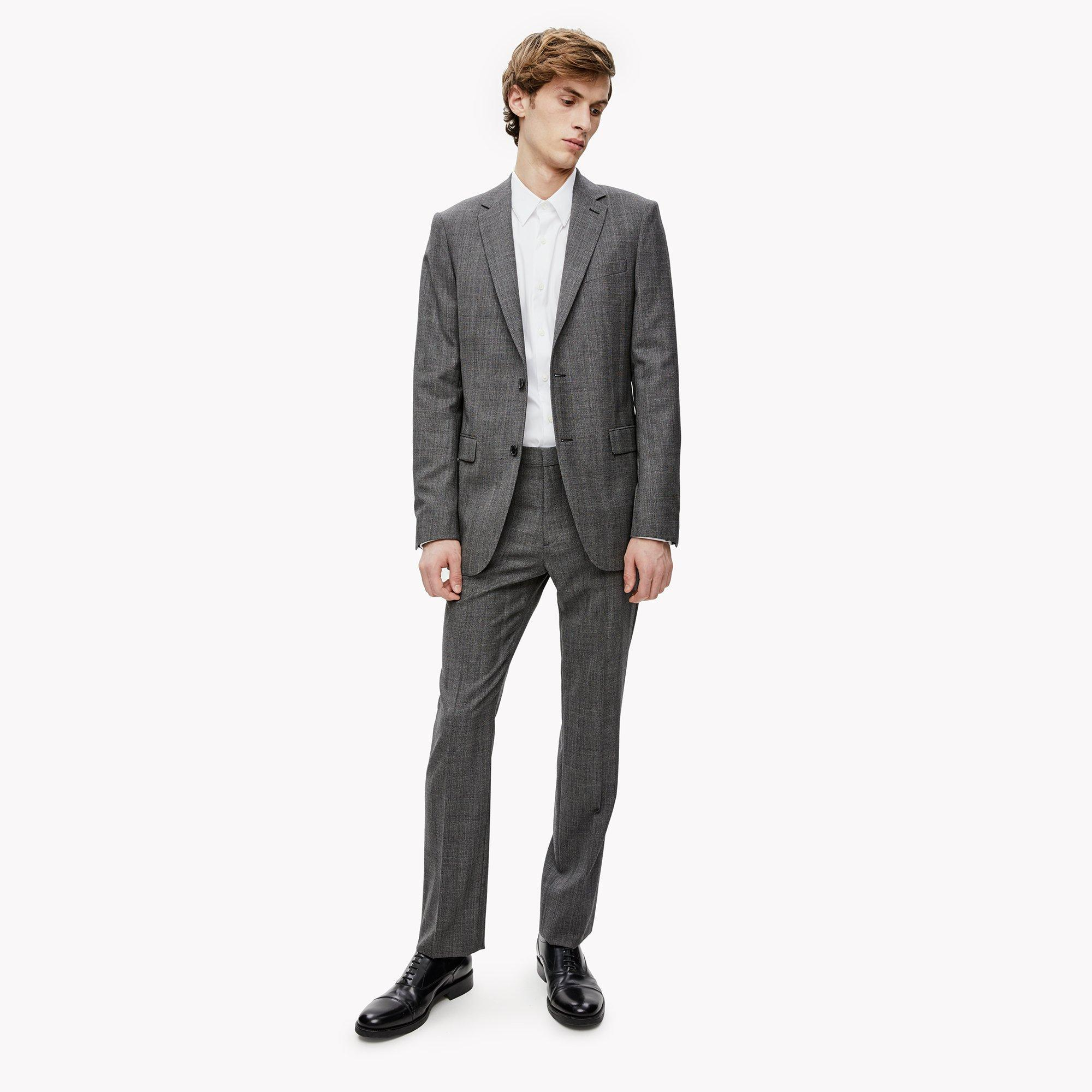 Theory Wool Glen Check Pant in Gray for Men