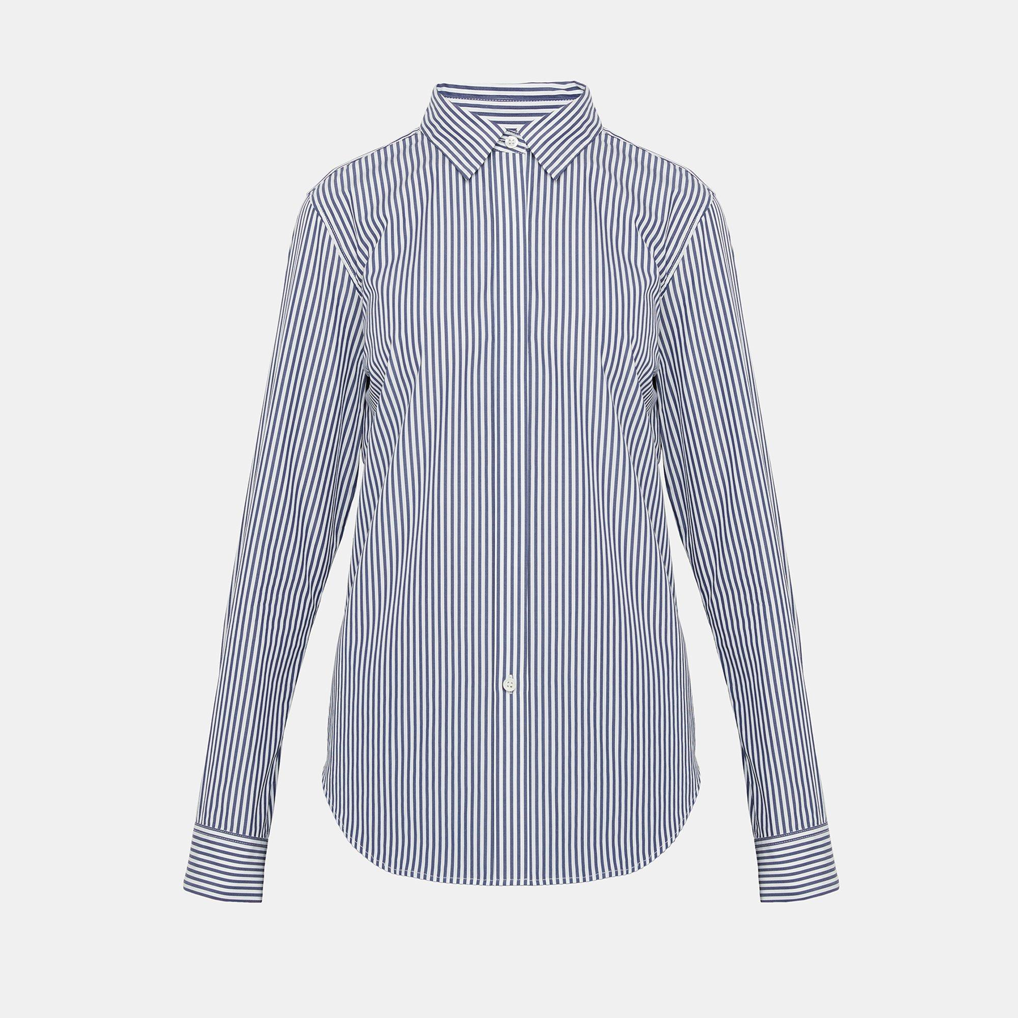 bc8f728ef27c3 Lyst - Theory Striped Essential Button-down Shirt in Blue
