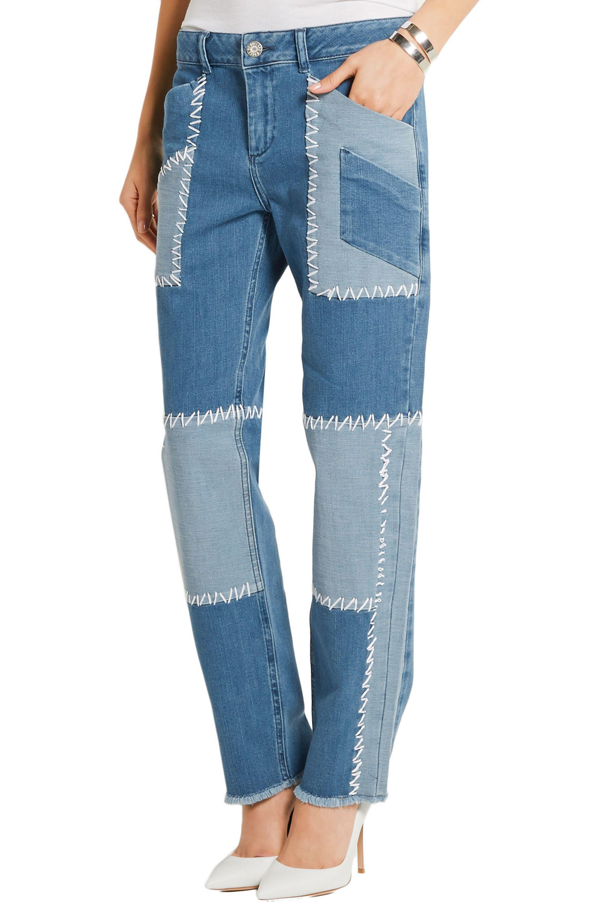 Printed High-rise Straight-leg Jeans - Blue House Of Holland 1ibcbC