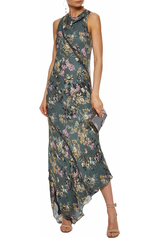 33a734ac40cd Haute Hippie Woman Cecilia Asymmetric Chain-embellished Floral-print ...