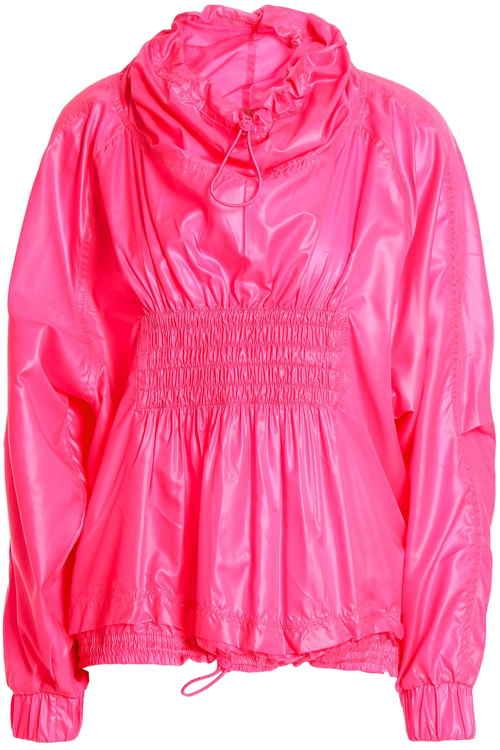0f6aa5781fc0 adidas By Stella McCartney. Women s Woman Shirred Shell Jacket Bright Pink