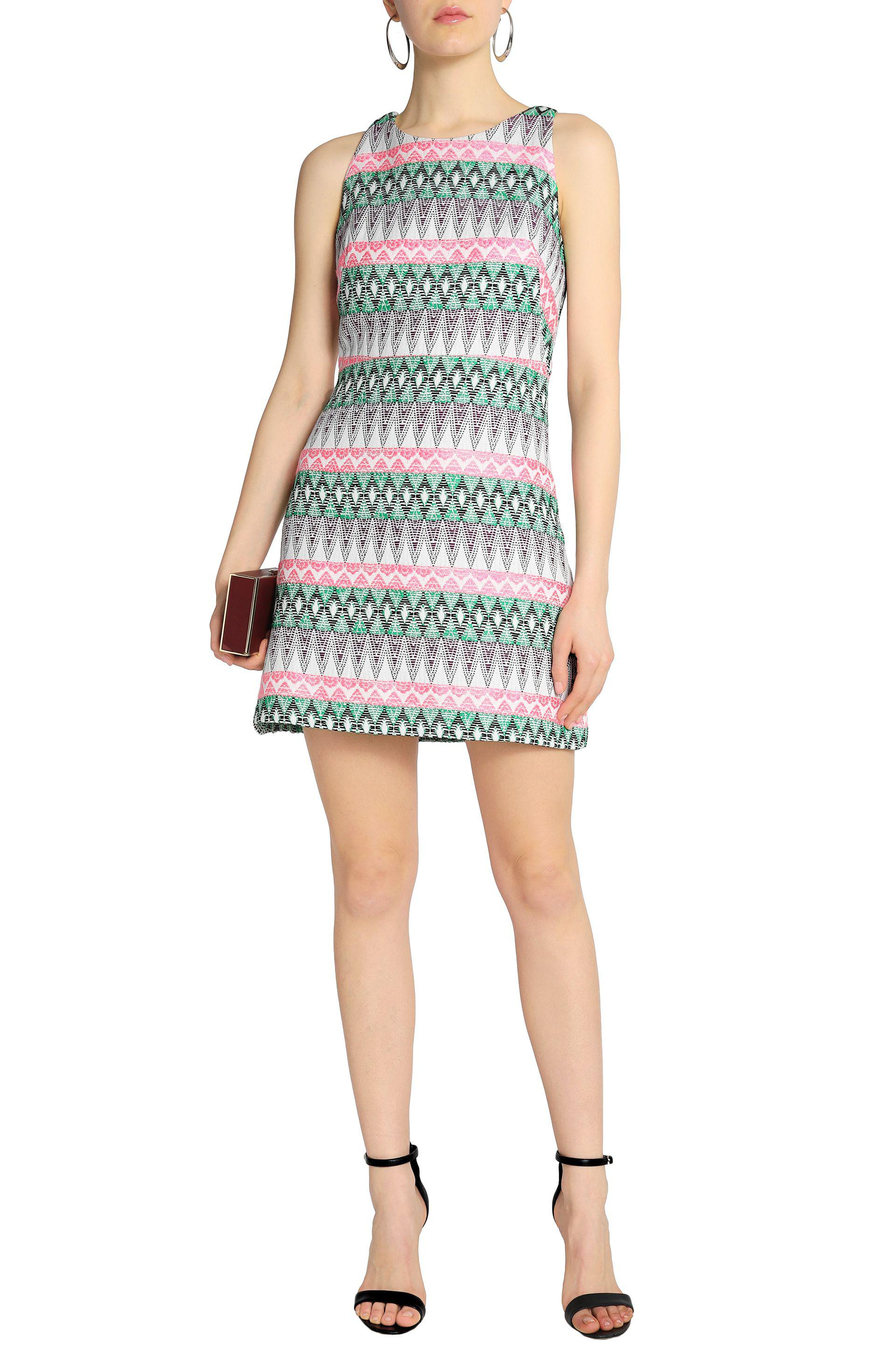Milly Woman Cotton-blend Jacquard Mini Dress Pink Size 2 Milly 100% Guaranteed For Sale Perfect Buy Cheap The Cheapest QQAHc