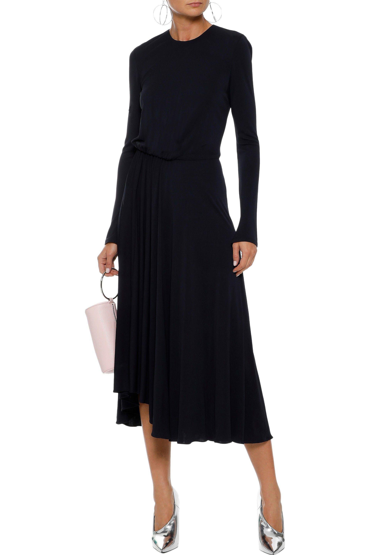 ae89b993ec08 Lyst - Narciso Rodriguez Woman Gathered Jersey Midi Dress Midnight ...