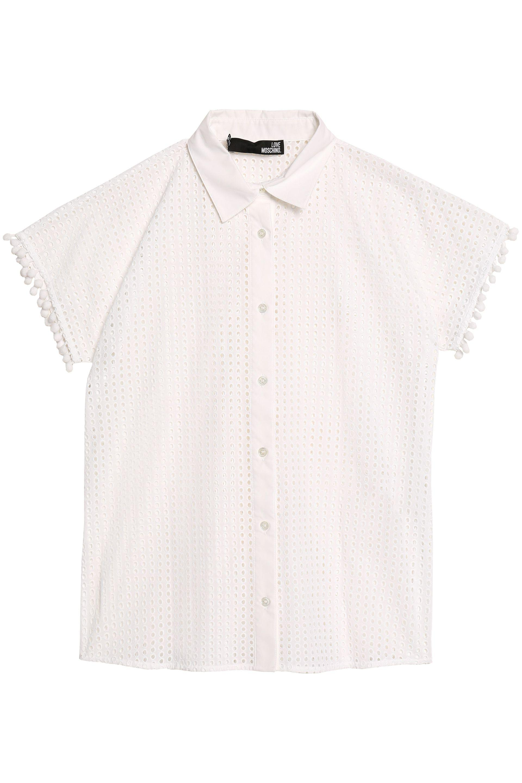 Boutique Moschino broderie anglaise blouse - Rosa Y Morado U7FXE4Kk