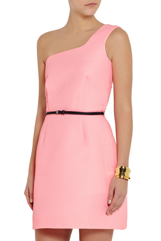 Lyst Victoria Victoria Beckham e shoulder Jacquard Mini Dress