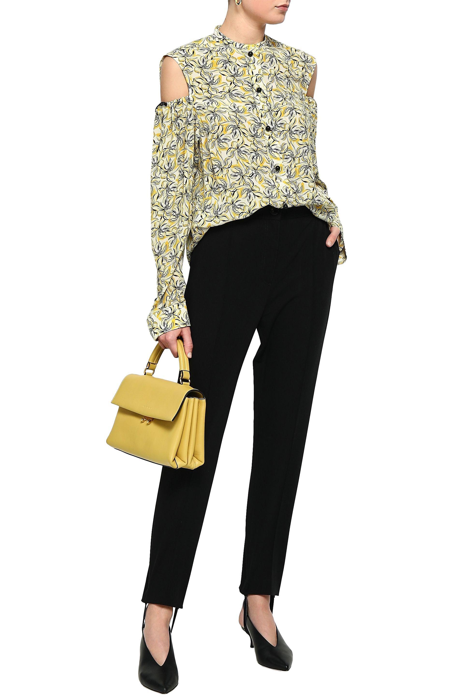 e7b635d091b36e Lyst - Joseph Ripley Cold-shoulder Cutout Floral-print Silk Shirt in ...