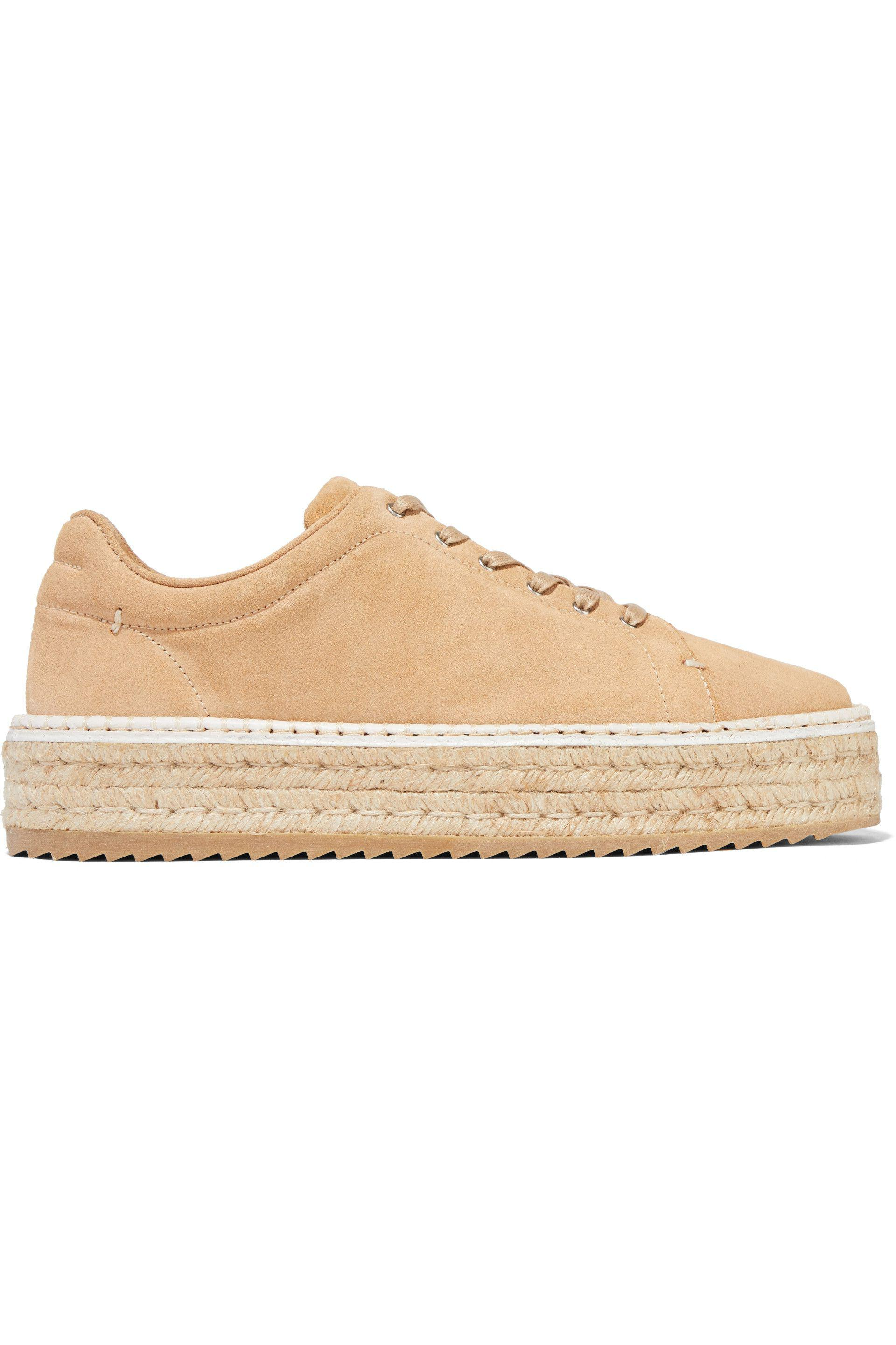 Rag & Bone Woman Standard Issue Embroidered Suede Sneakers Sand Size 40 Rag & Bone udJhr