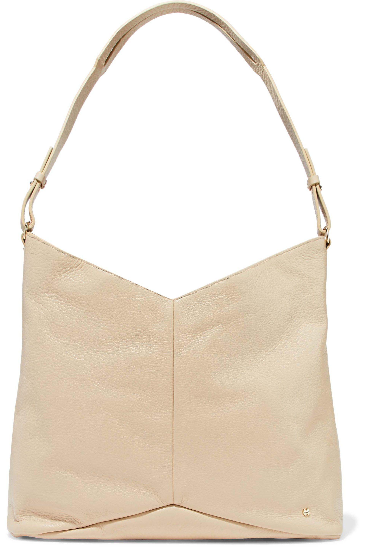 0c2673d115 Halston Heritage Pebbled-leather Shoulder Bag in Natural - Lyst