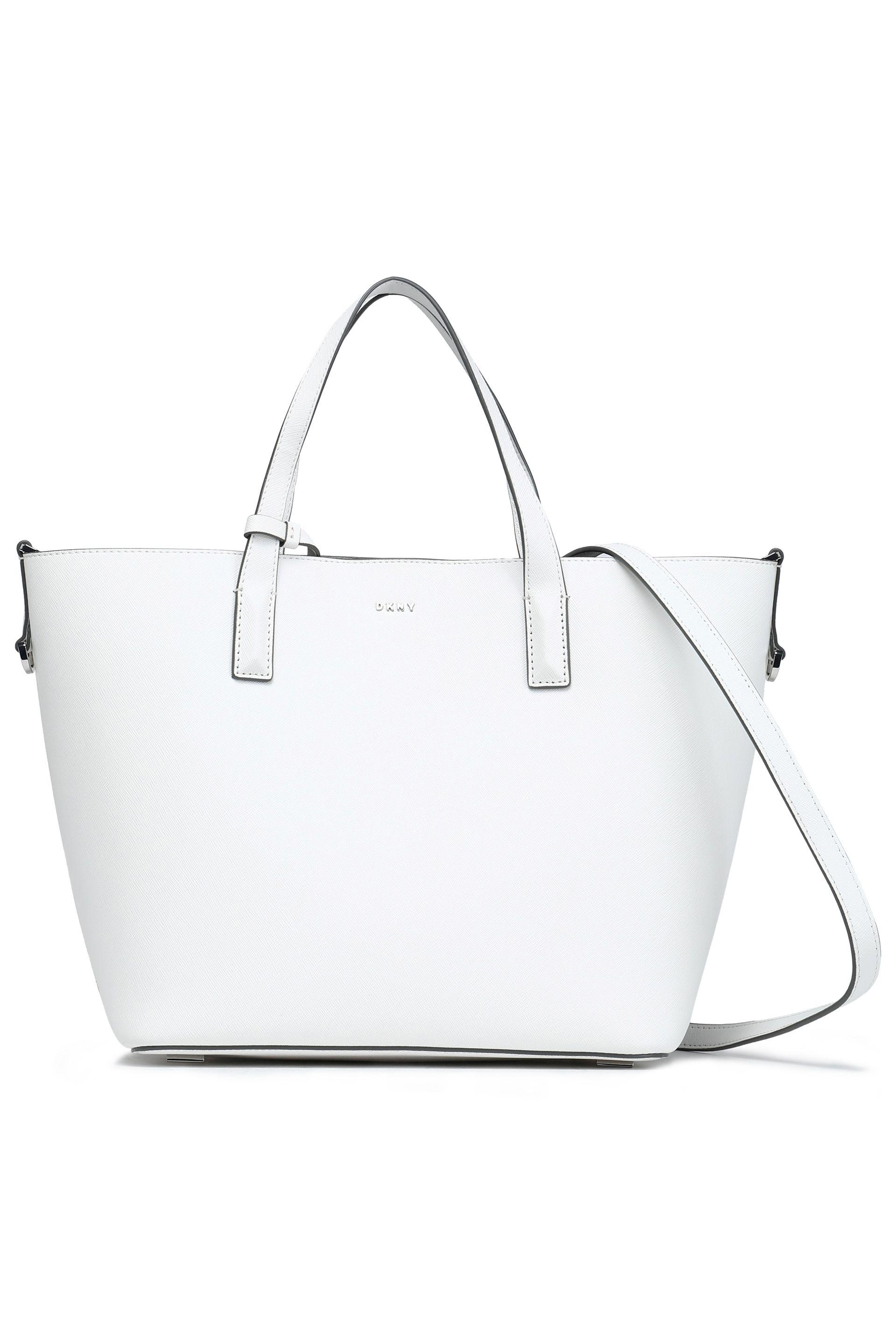 bb39dbed87e2 Dkny Leather Tote in White - Lyst