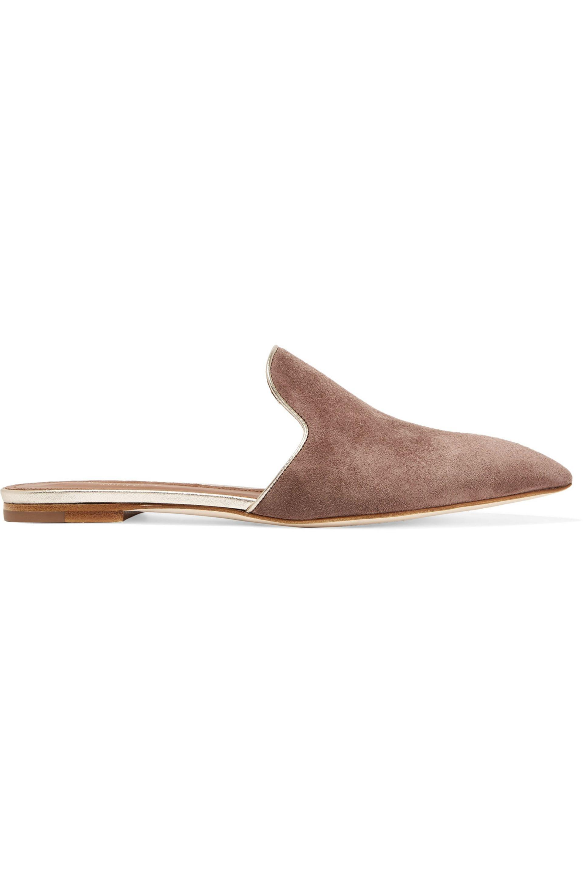 MALONE SOULIERS Marianne Suede Slippers bJy5FzfIp