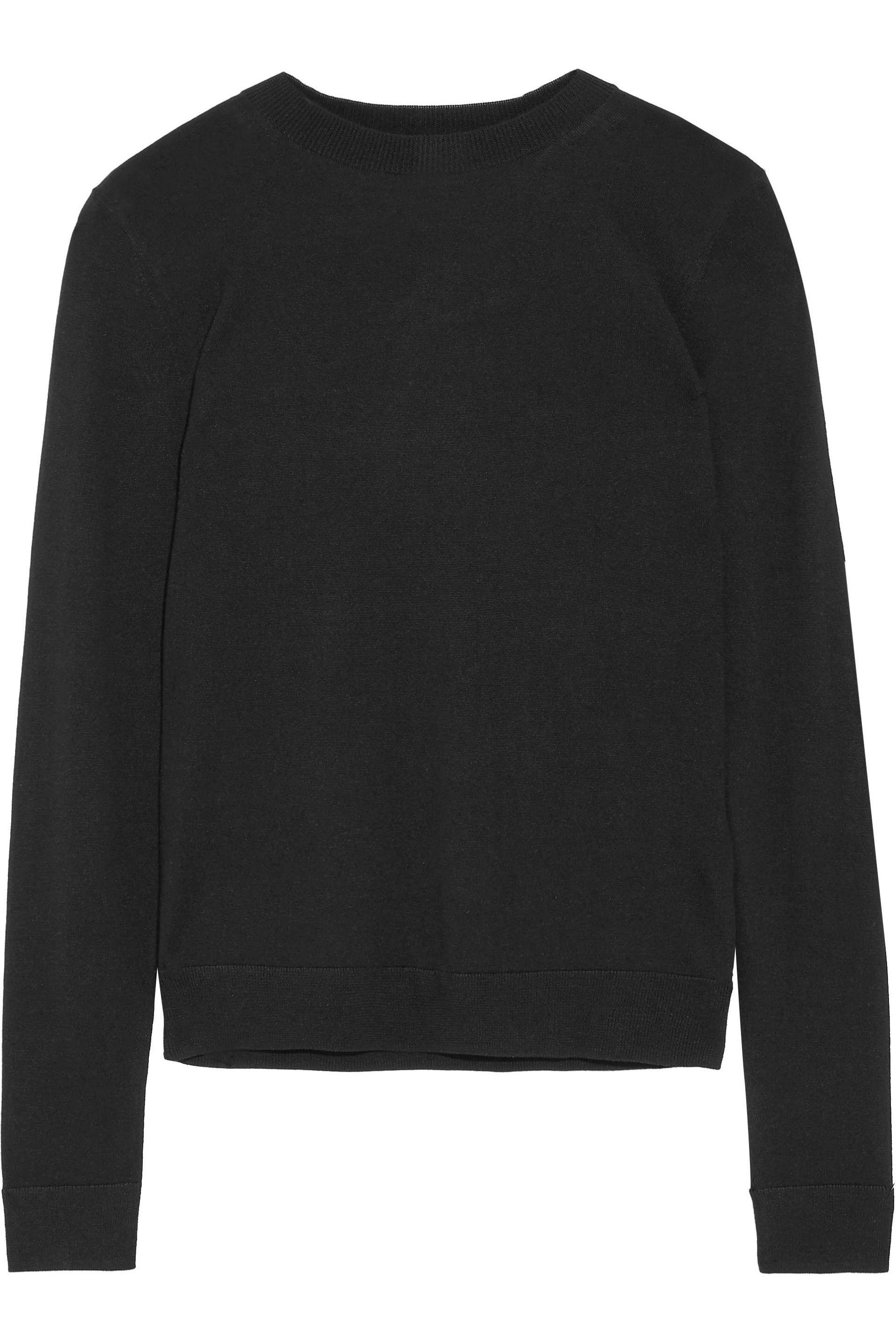 With Mastercard Sale Online Iris & Ink Woman Hattie Silk And Cashmere-blend Sweater Black Size XL IRIS & INK Outlet Deals 0SbB9AnuDl