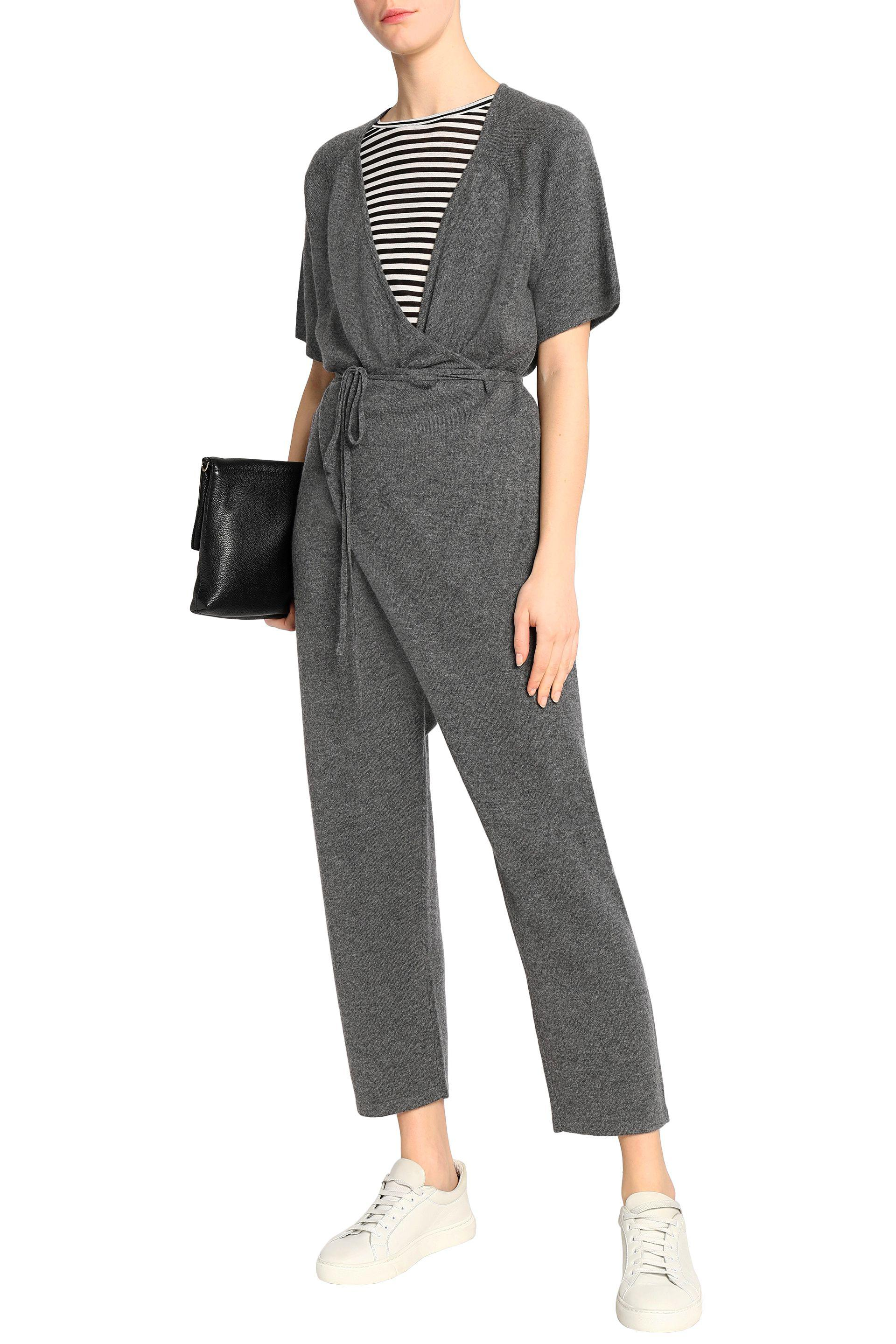42064e8af8b5 Madeleine Thompson Wrap-effect Wool And Cashmere-blend Jumpsuit in ...