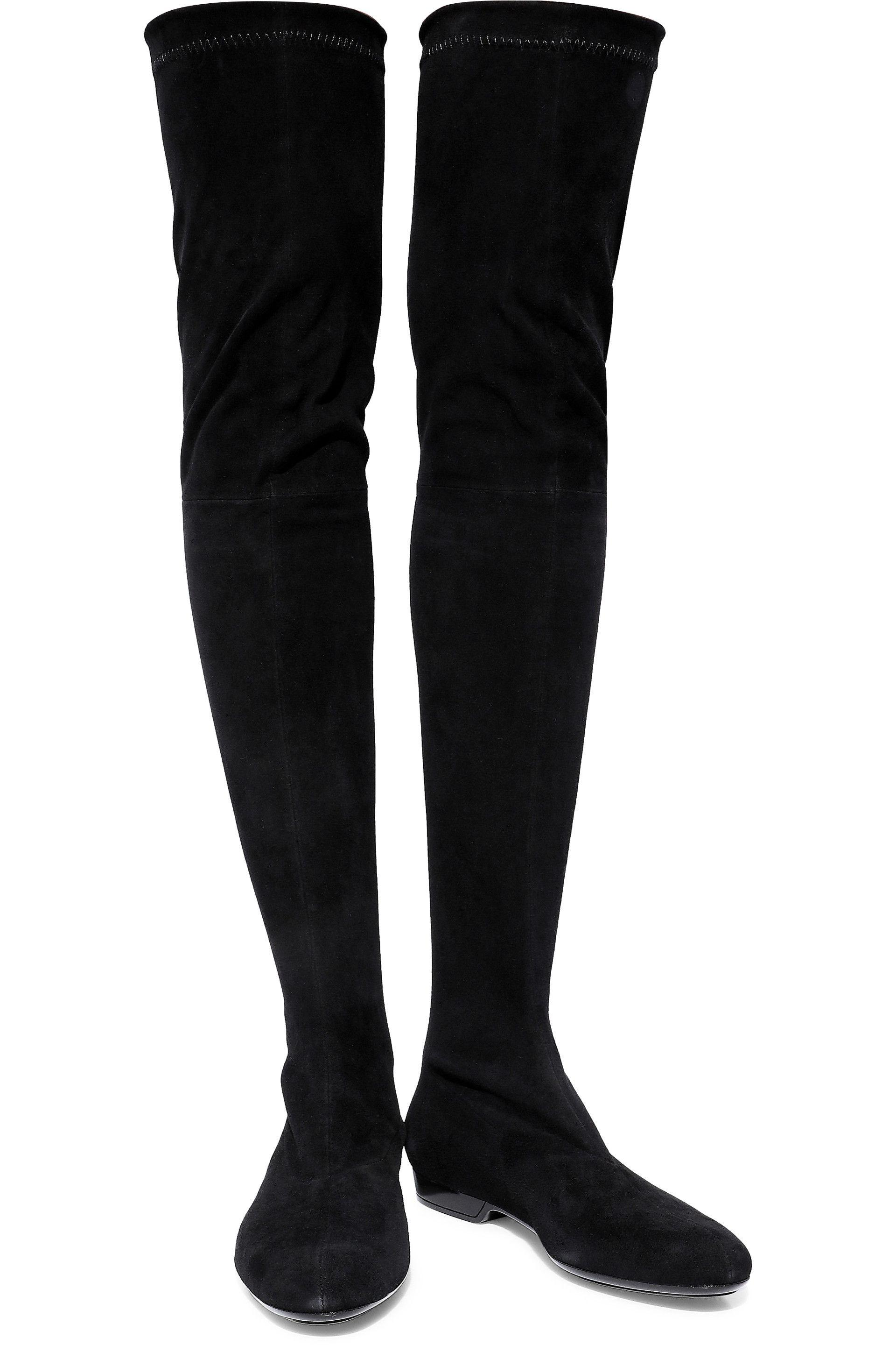 f08ed1fe2b3 Lyst - Robert Clergerie Woman Fetej Stretch-suede Over-the-knee ...