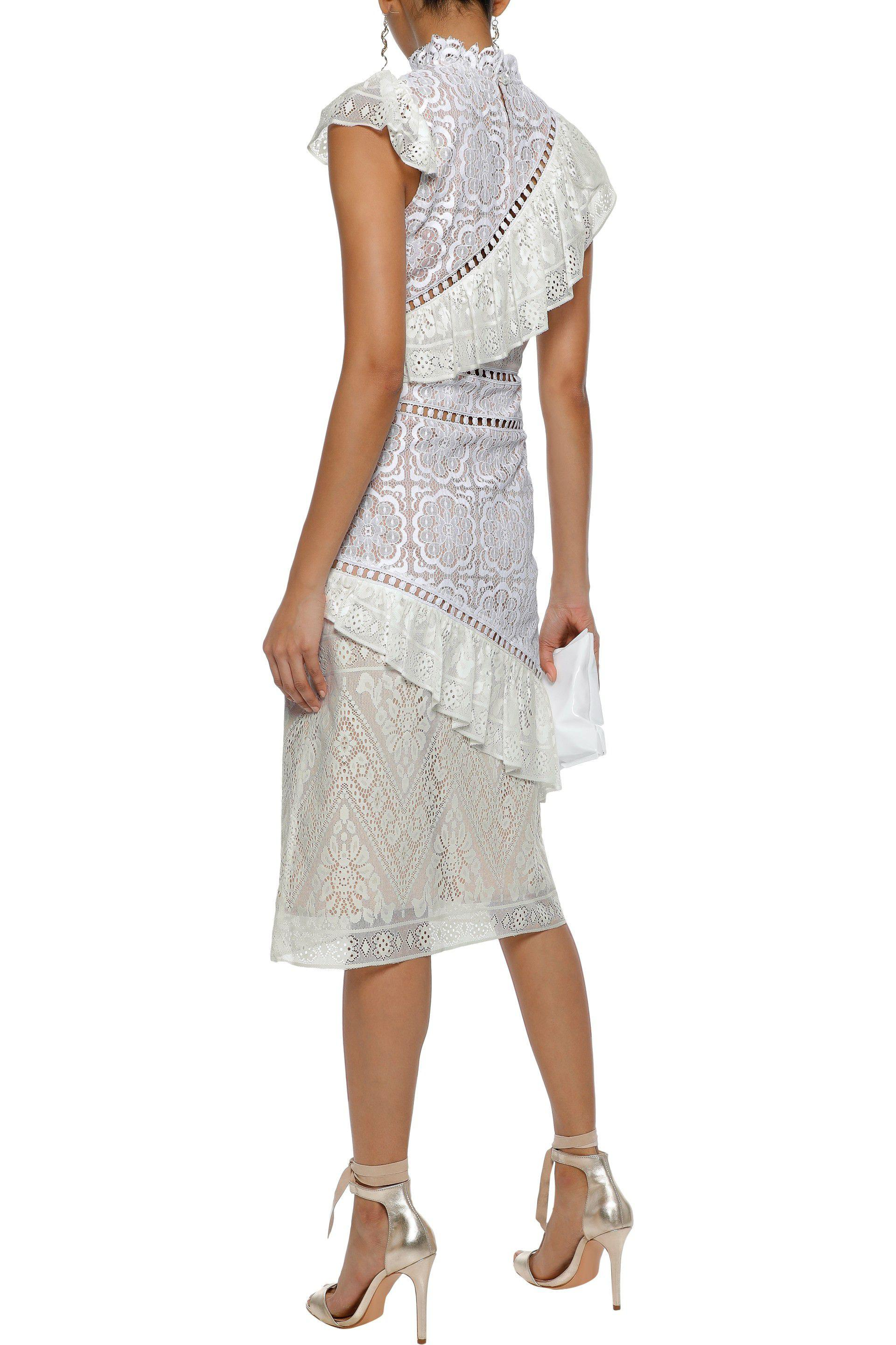 Lace-trimmed Broderie Anglaise Cotton Midi Dress - White Sea New York Cheap Outlet Locations New Lower Prices lxJ2Kn