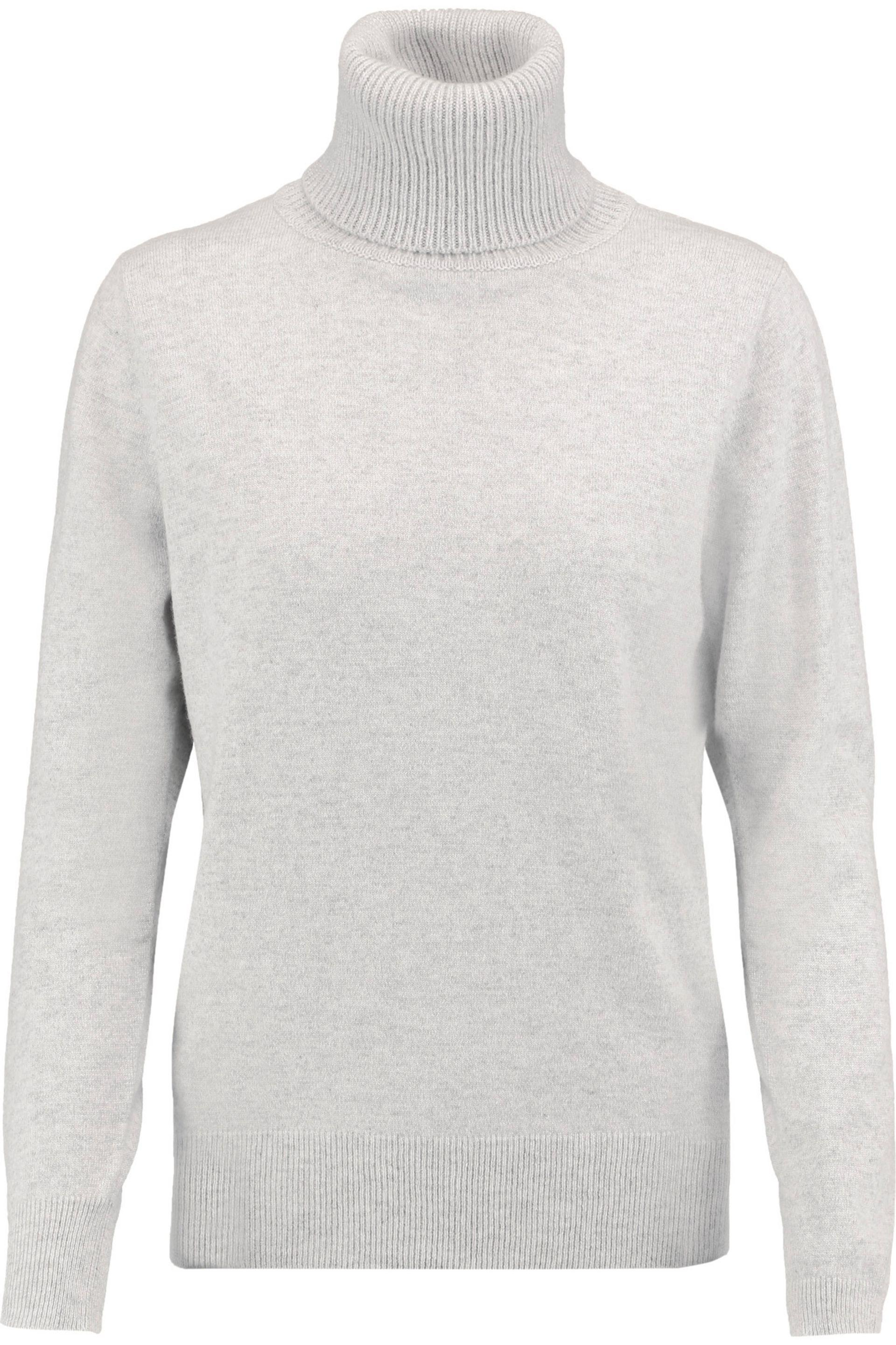N.peal cashmere Cashmere Turtleneck Sweater Light Gray in Gray | Lyst