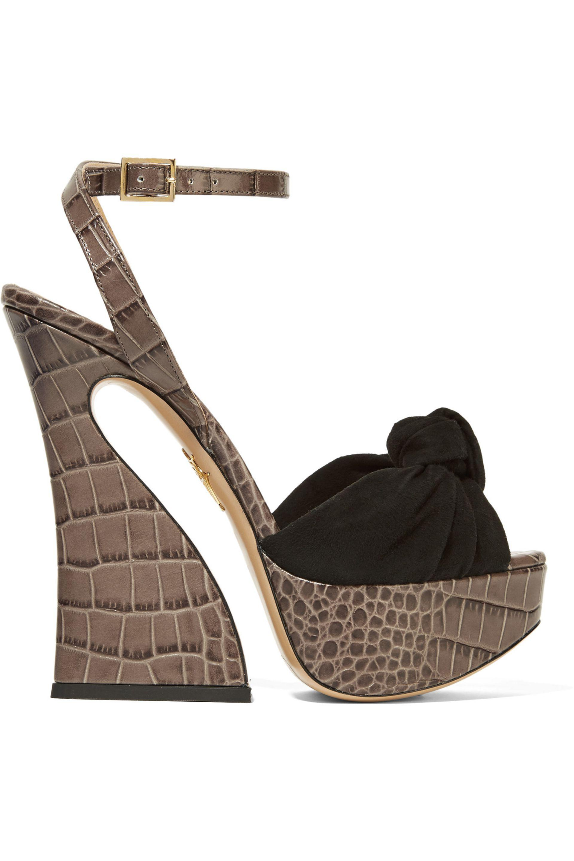 Charlotte Olympia Croc effect sandals xQUOFpN46