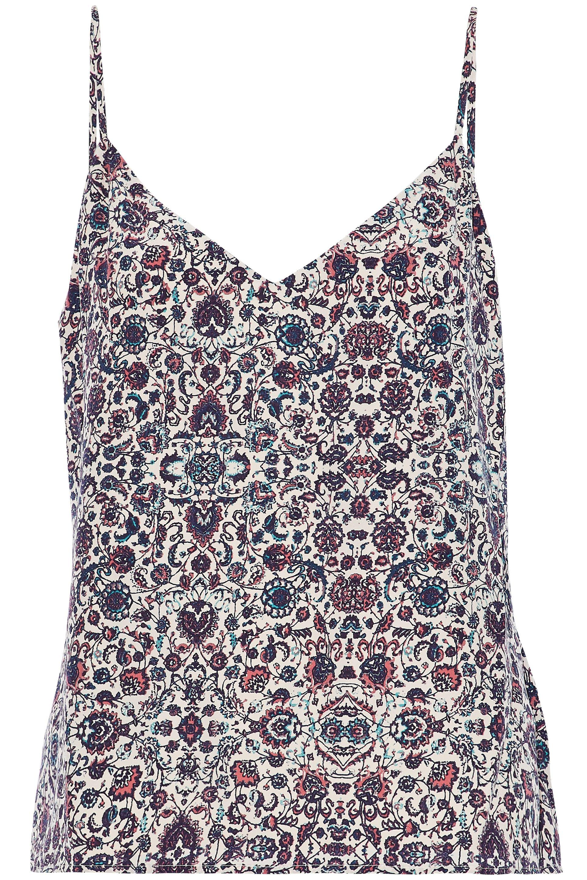Clearance The Cheapest Prices Sale Online Lagence Woman Printed Silk Crepe De Chine Camisole Brick Size L L'agence Free Shipping Best Seller Big Sale Cheap Online Cheap Sale Outlet Store dO5kx