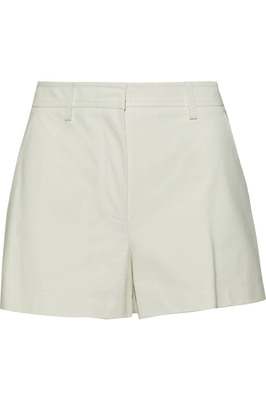 40ef238a6ac1 Lyst - Emilio Pucci Woman Leather Shorts Ecru