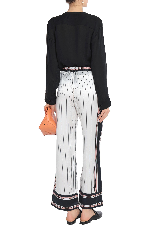 Un Pantalon En Soie Rayée Avery Kate Moss Pour L'équipement YY6XId4dBa