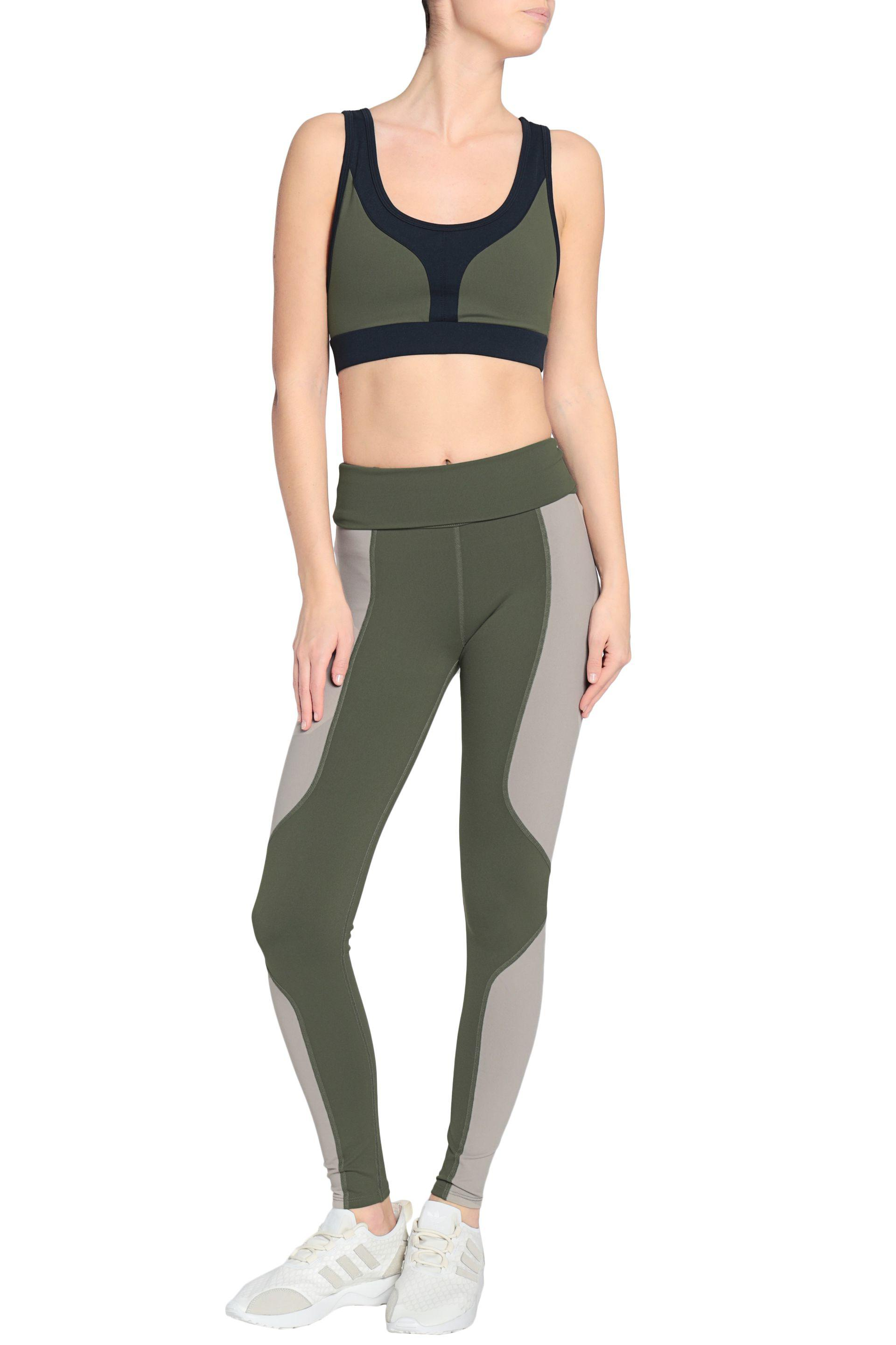 fe3f00027ee Lyst - Live The Process Two-tone Stretch Leggings Leaf Green in Green