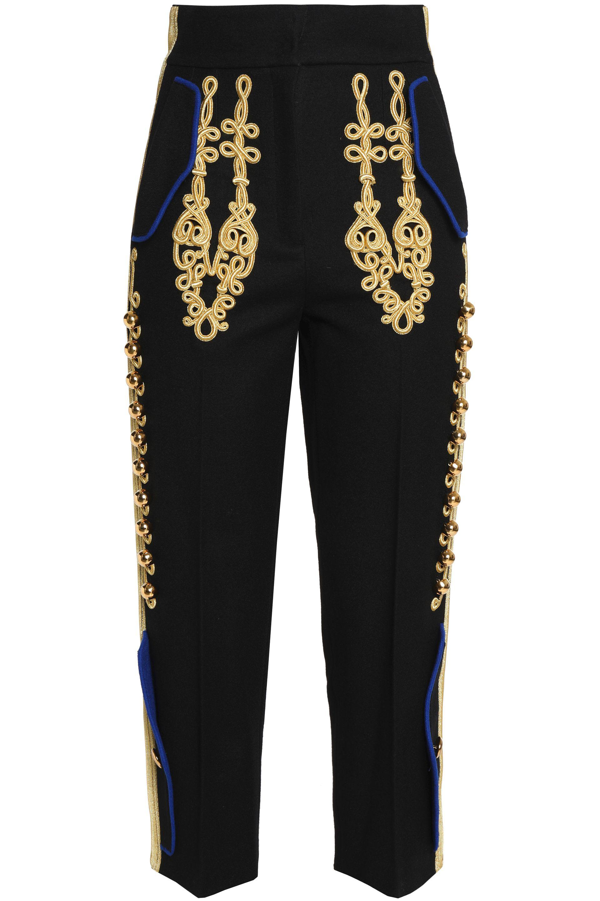 c6da98da191 dolce-gabbana-Black-Cropped-Embellished-Wool-blend-Tapered-Pants.jpeg