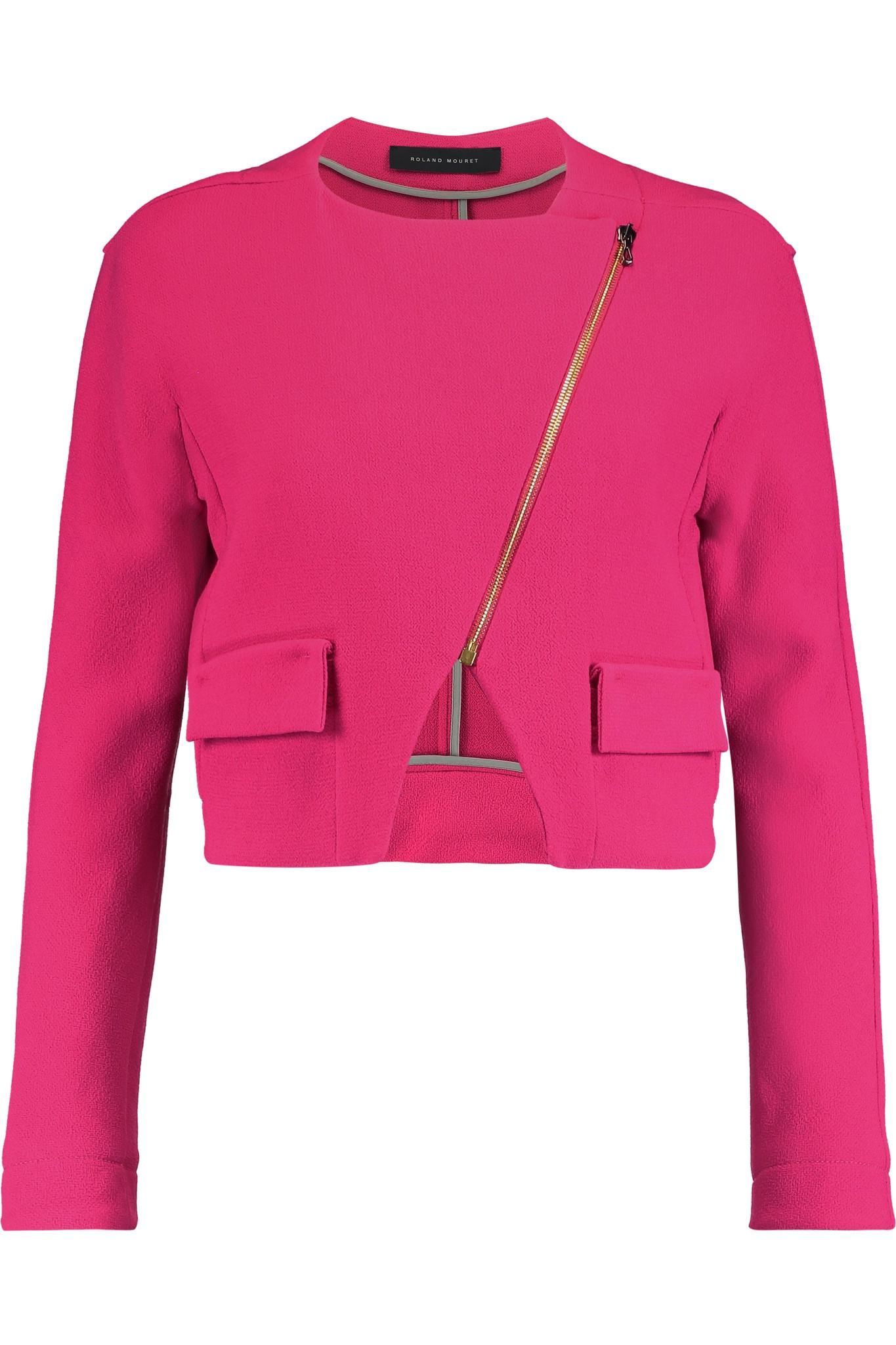 PARAJUMPERS Cropped Jackets fucsia