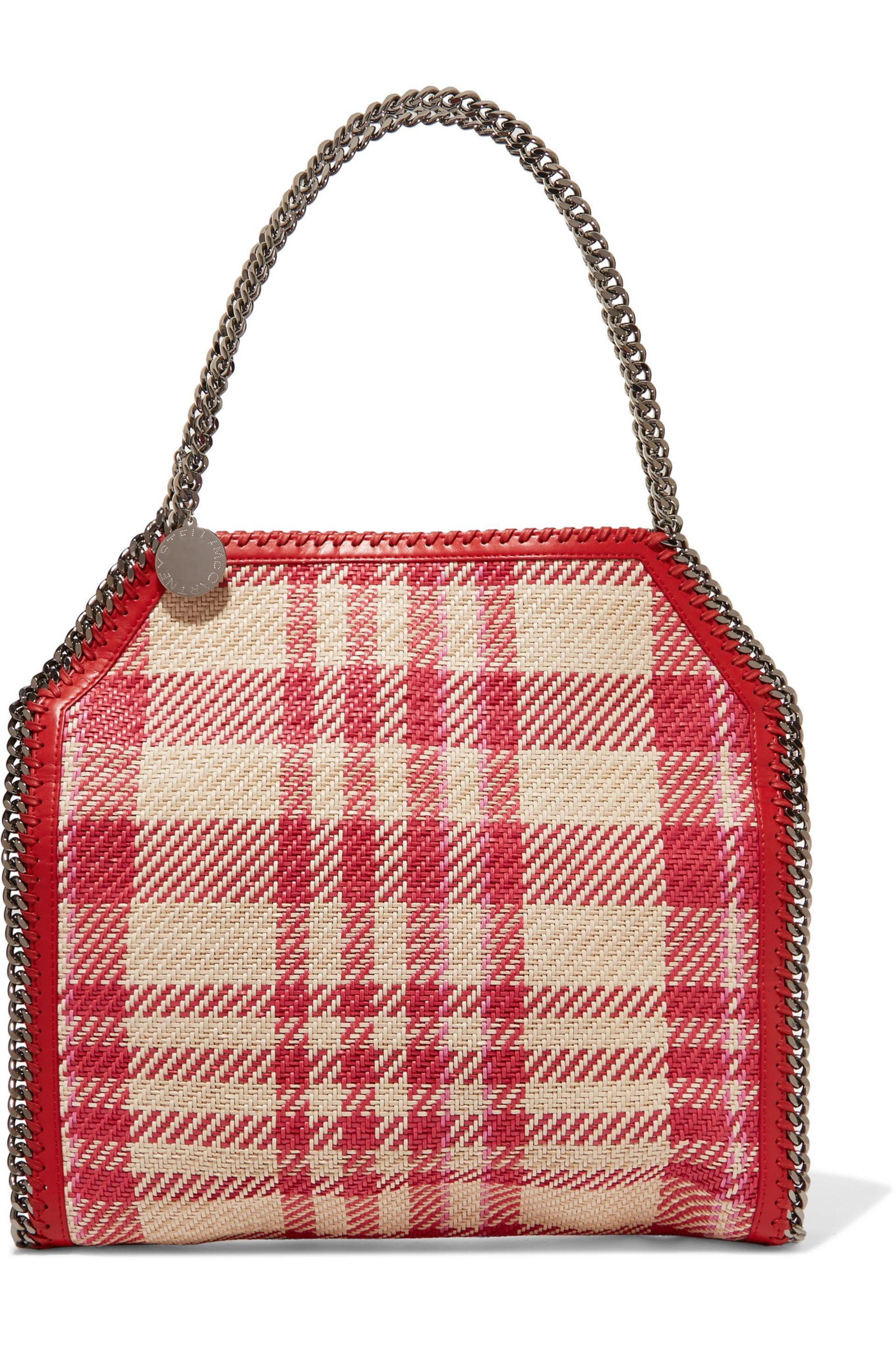 2d9cc613ca Lyst - Stella McCartney Woman Falabella Checked Woven Faux-leather ...