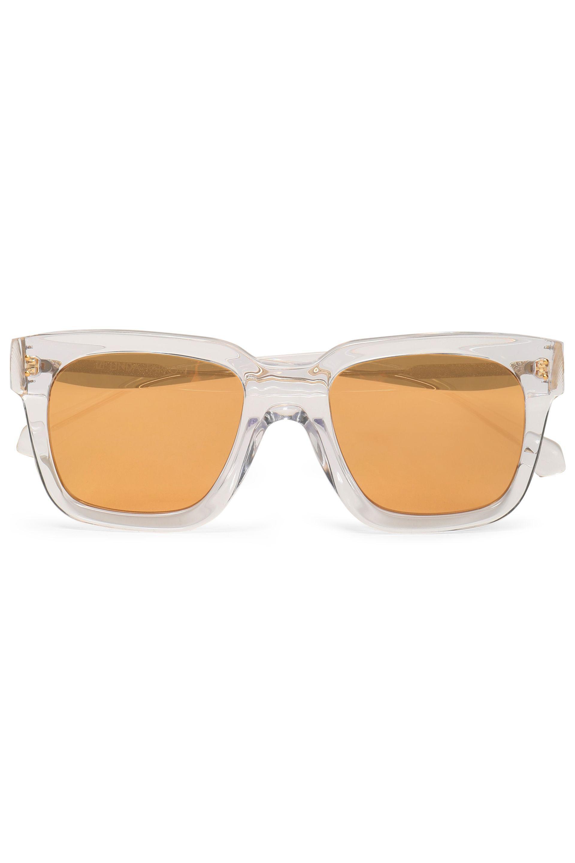 Linda Farrow Woman Square-frame Acetate Mirrored Sunglasses Off-white Size Linda Farrow SWD2x