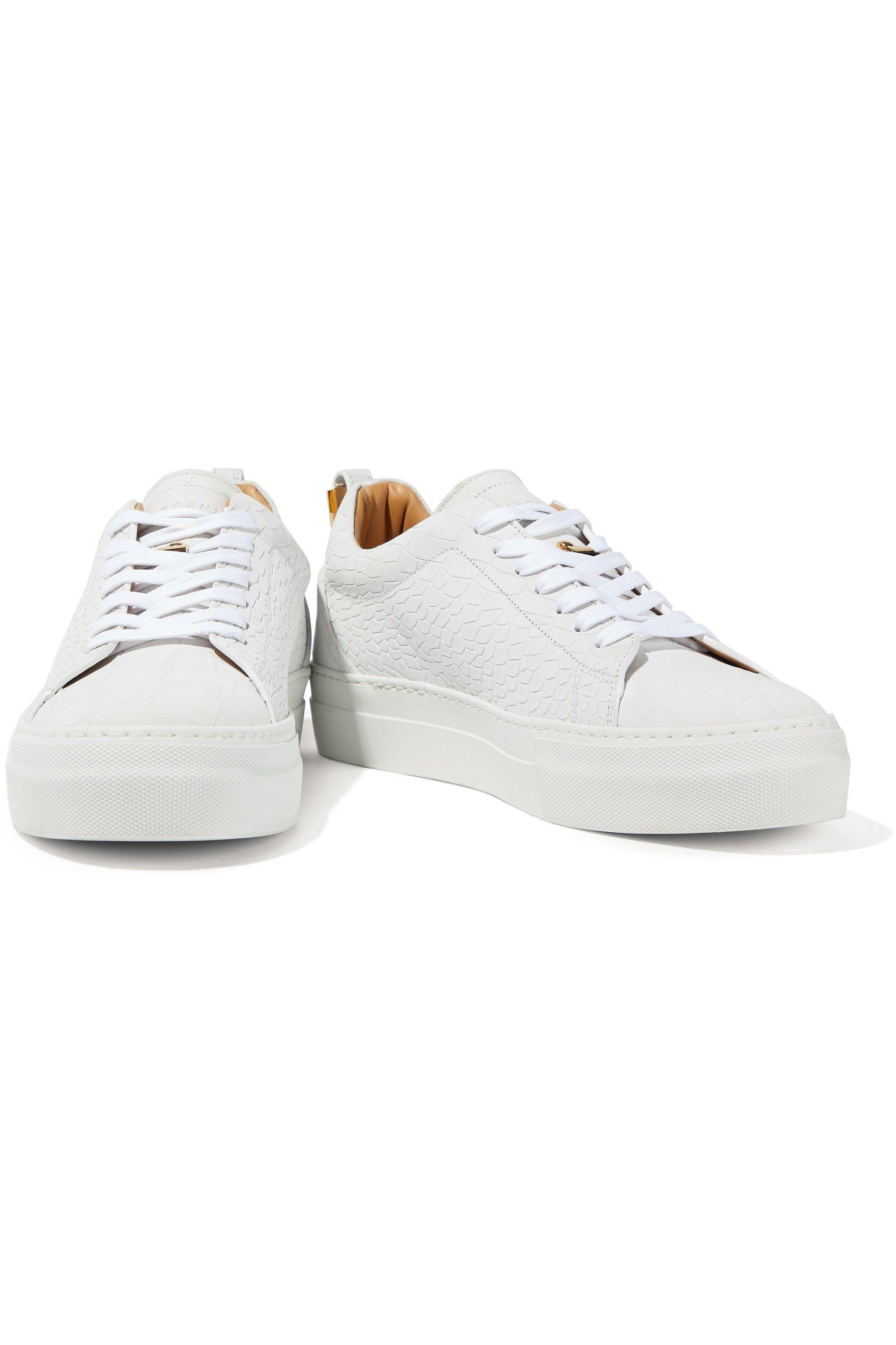 ffb42140040c2d Buscemi - Woman Croc-effect Leather Sneakers Off-white - Lyst. View  fullscreen