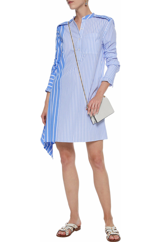 ec6eb47abc852f 10 Crosby Derek Lam Asymmetric Striped Cotton-poplin Mini Shirt ...