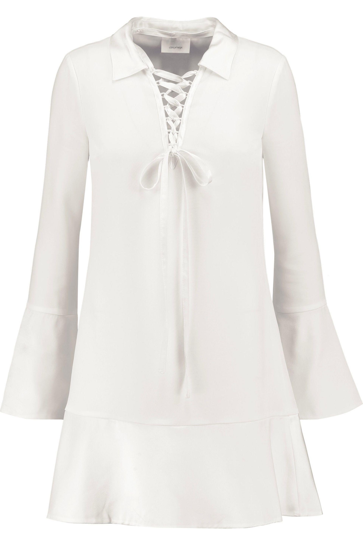 Cinq À Sept. Women's White Rya Satin-trimmed Crepe Mini Dress