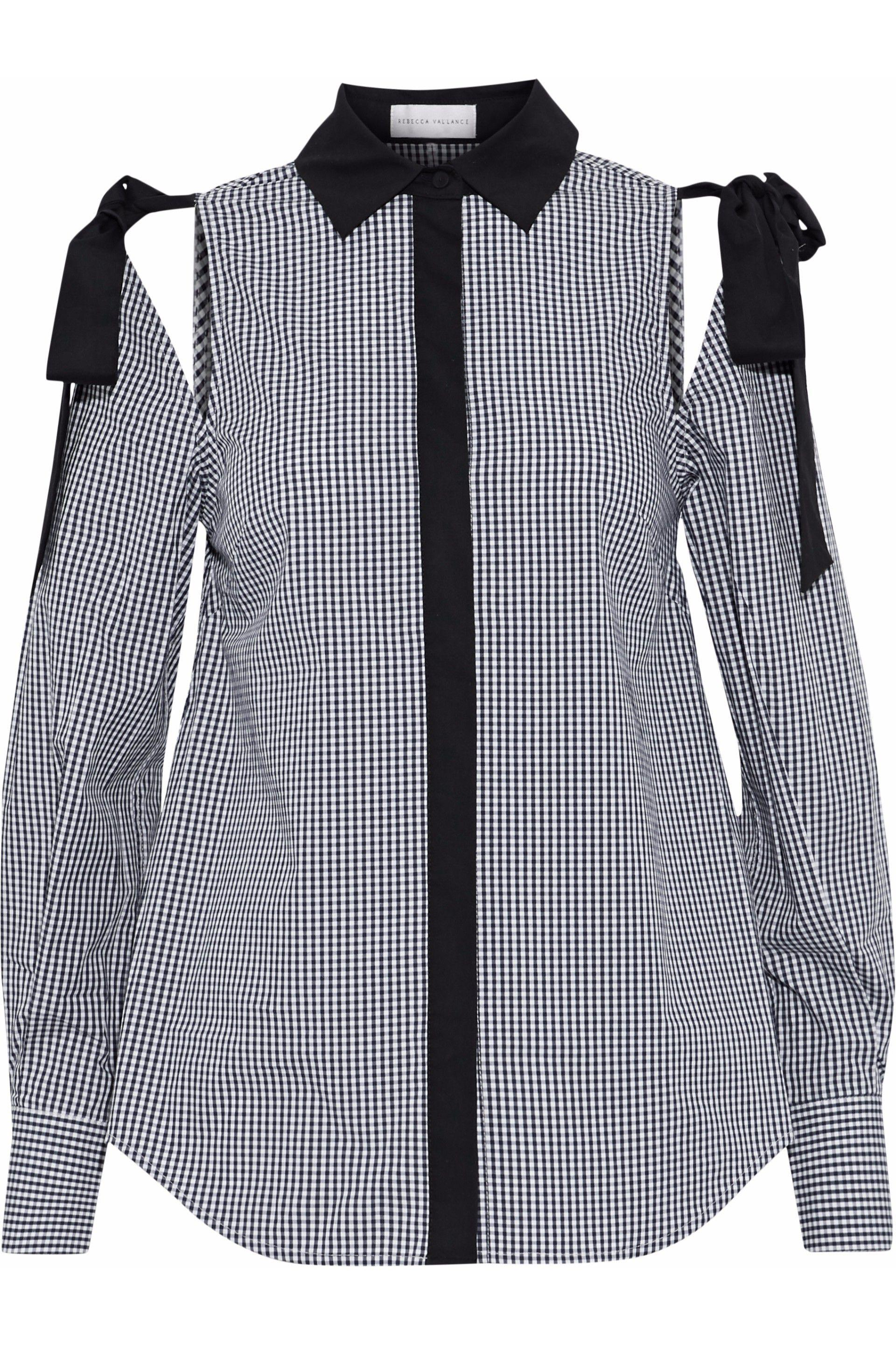 Rebecca Vallance Woman Cold-shoulder Gingham Cotton-poplin Shirt Black Size 8 Rebecca Vallance Collections Online New Styles Cheap Price Discounts Cheap Online Cheap Discount Authentic dcwdg7ouZ