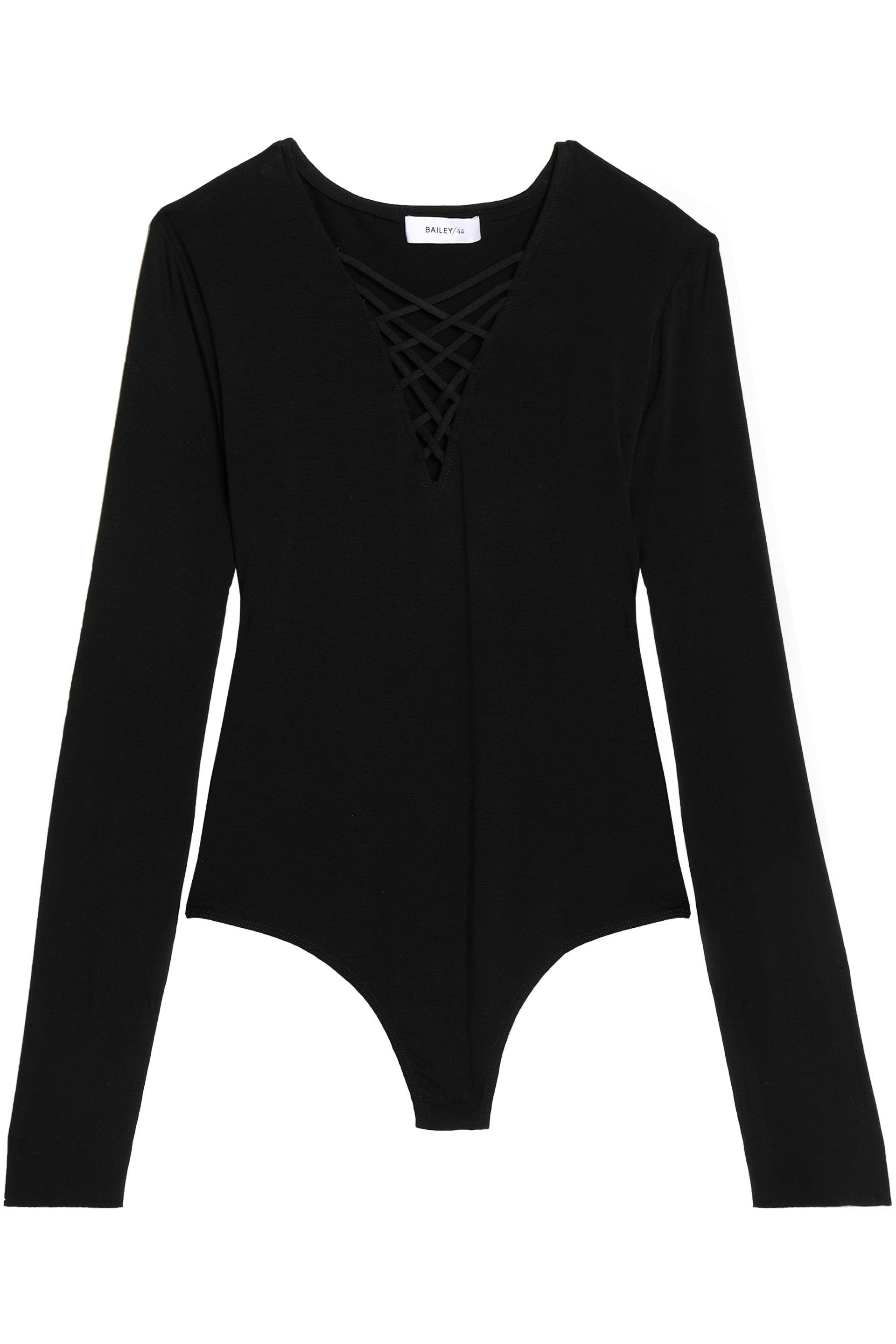 Bailey 44 Woman Lattice-trimmed Stretch-jersey Bodysuit Black Size L Bailey 44 Geniue Stockist For Sale Recommend For Sale Clearance Manchester Great Sale ZGhVMwWOFA