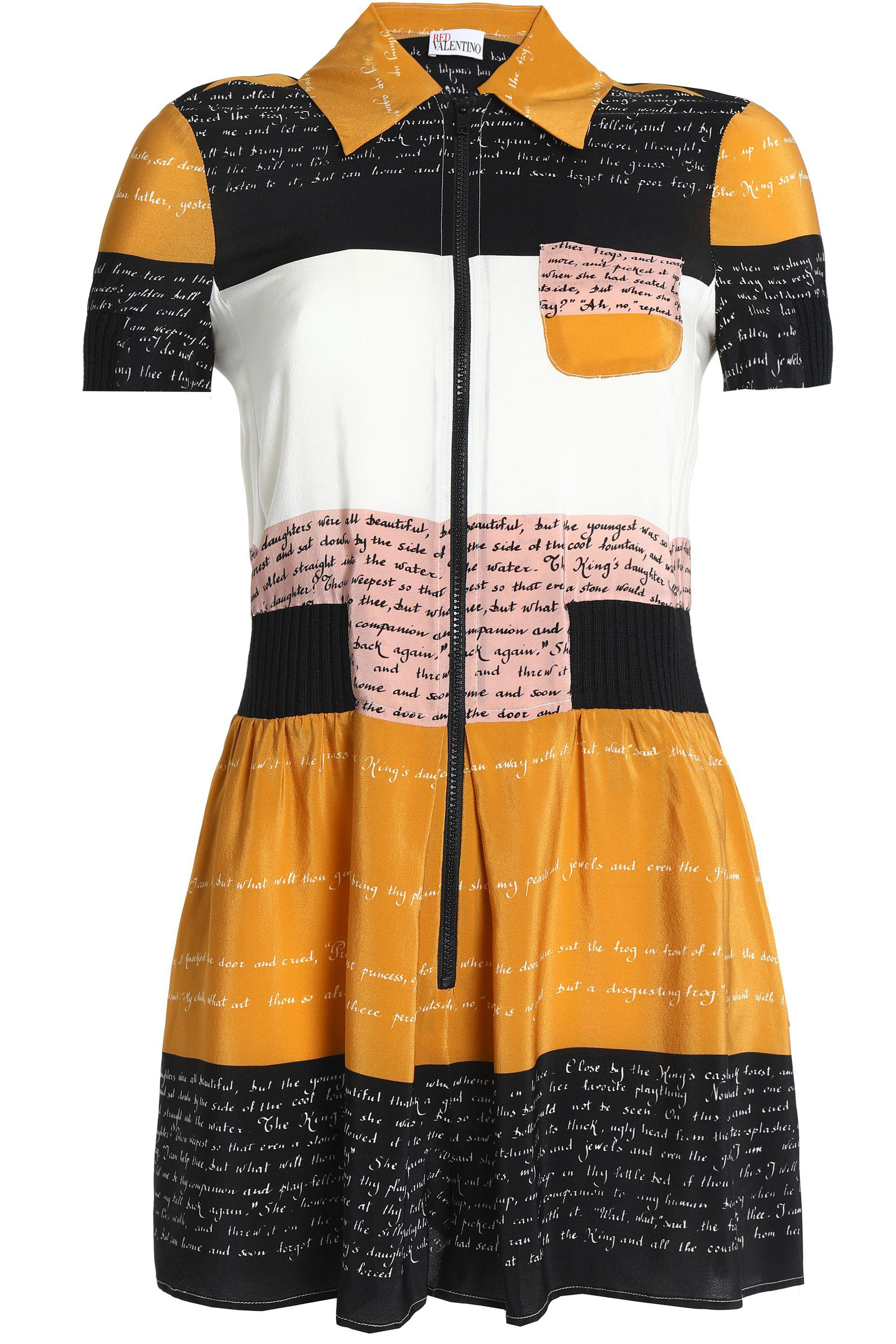 24fe15e927 RED Valentino Woman Printed Crepe Playsuit Saffron Size 40 - Lyst