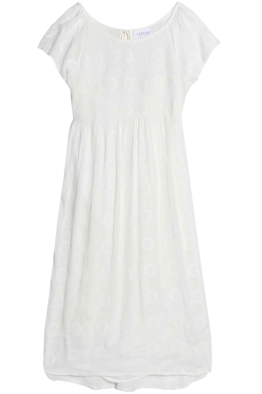 Velvet By Graham & Spencer Woman Embroidered Gauze Dress Off-white Size XS Velvet bIZbKbl8LU